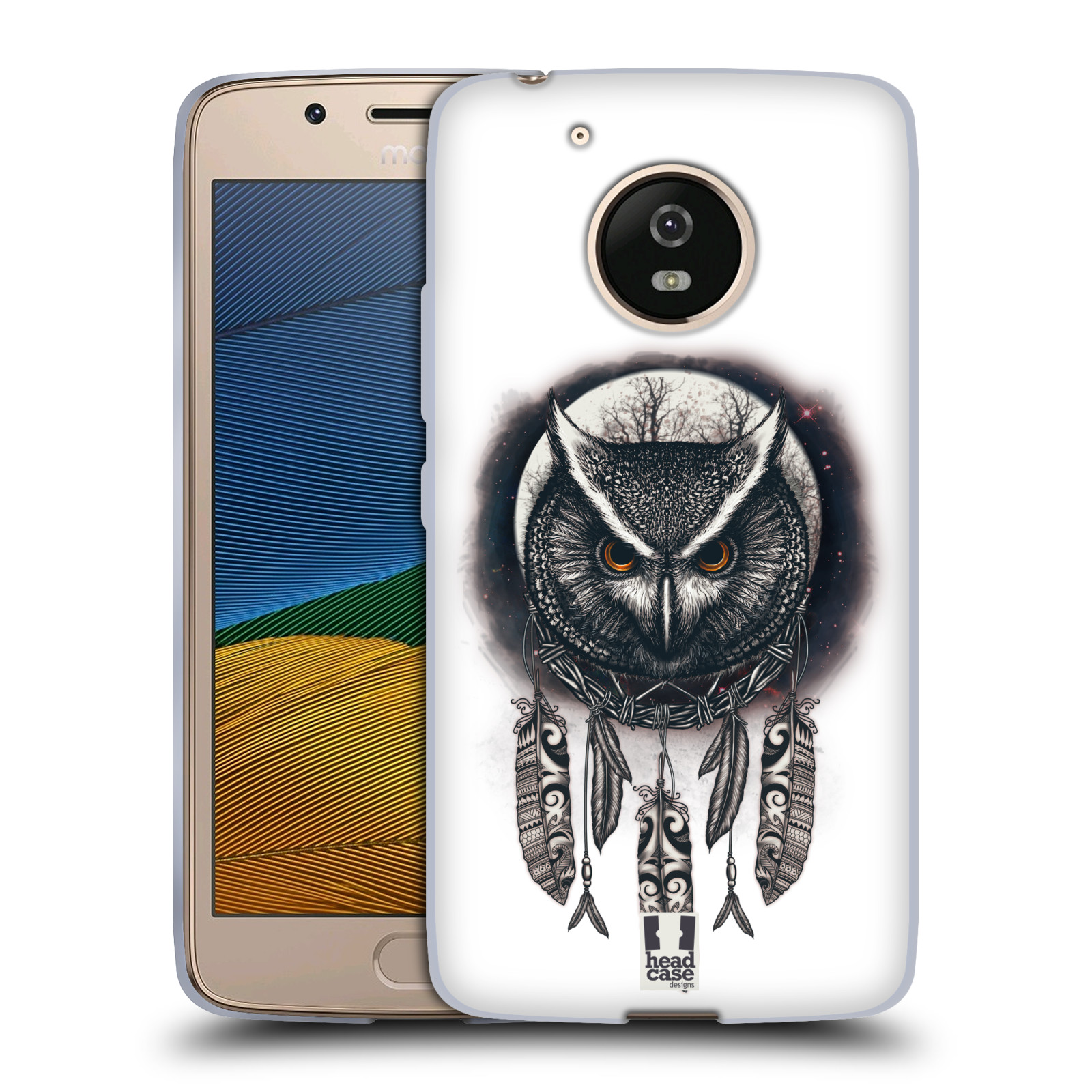 Silikonové pouzdro na mobil Lenovo Moto G5 - Head Case - Soví lapač
