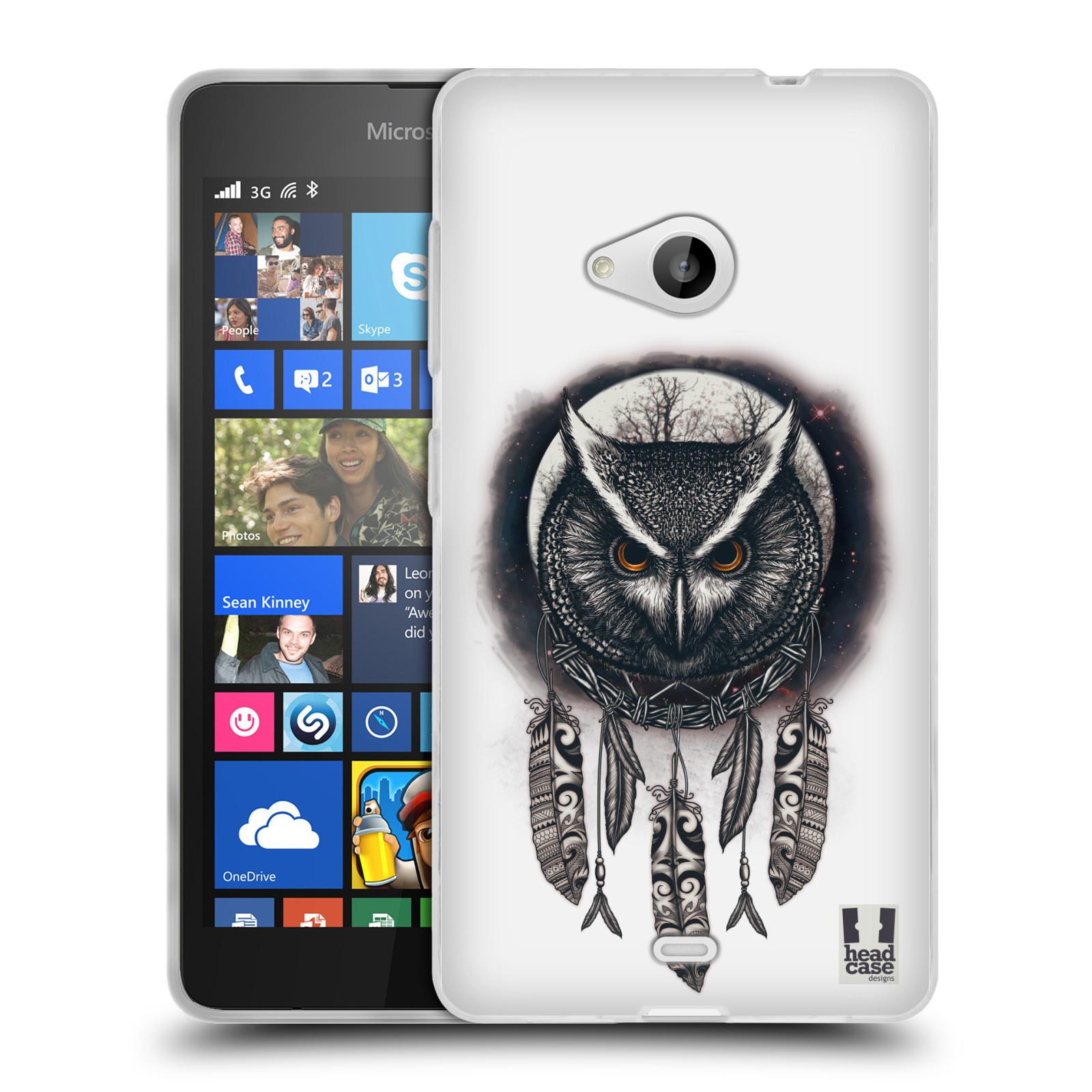 Silikonové pouzdro na mobil Microsoft Lumia 535 - Head Case - Soví lapač
