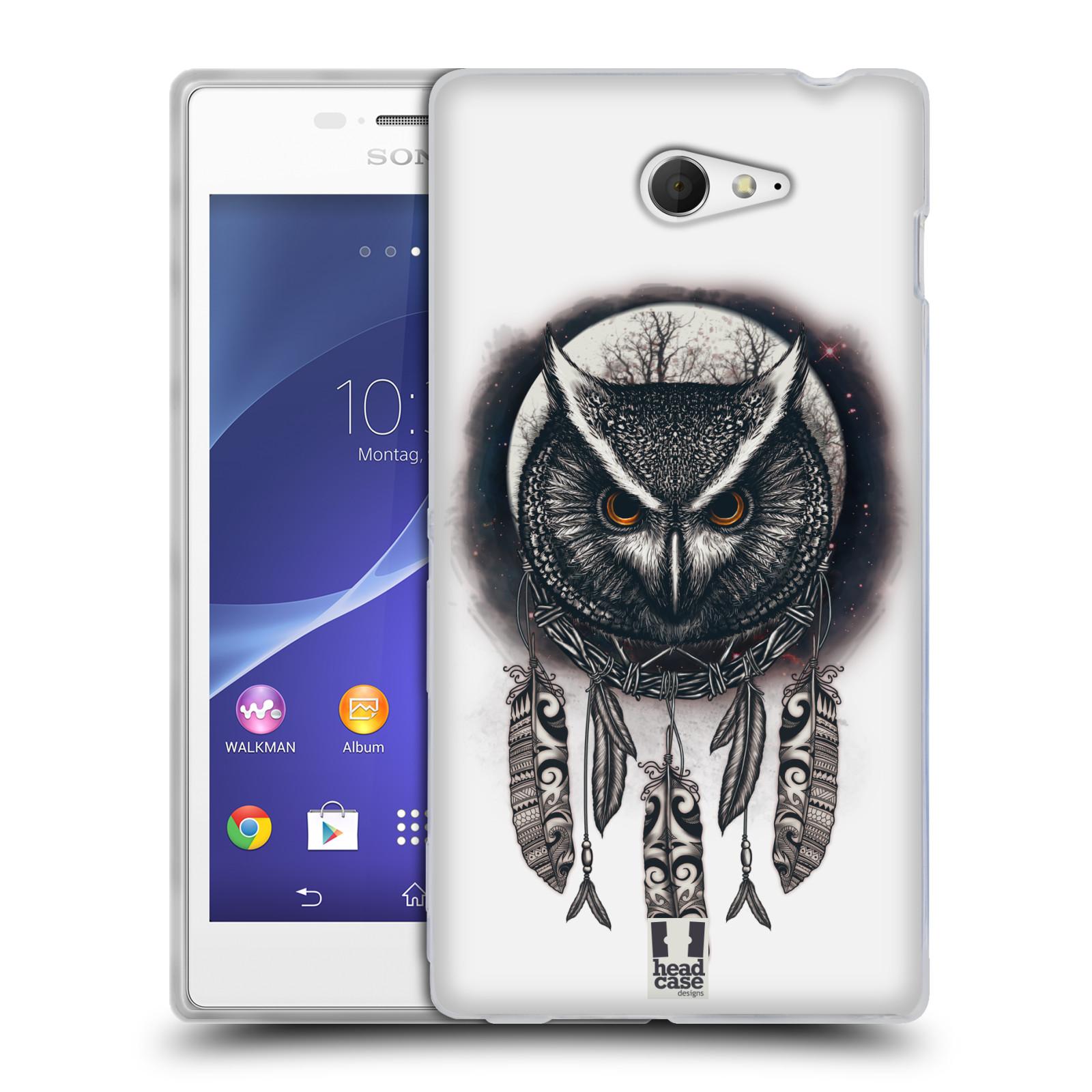 Silikonové pouzdro na mobil Sony Xperia M2 D2303 - Head Case - Soví lapač