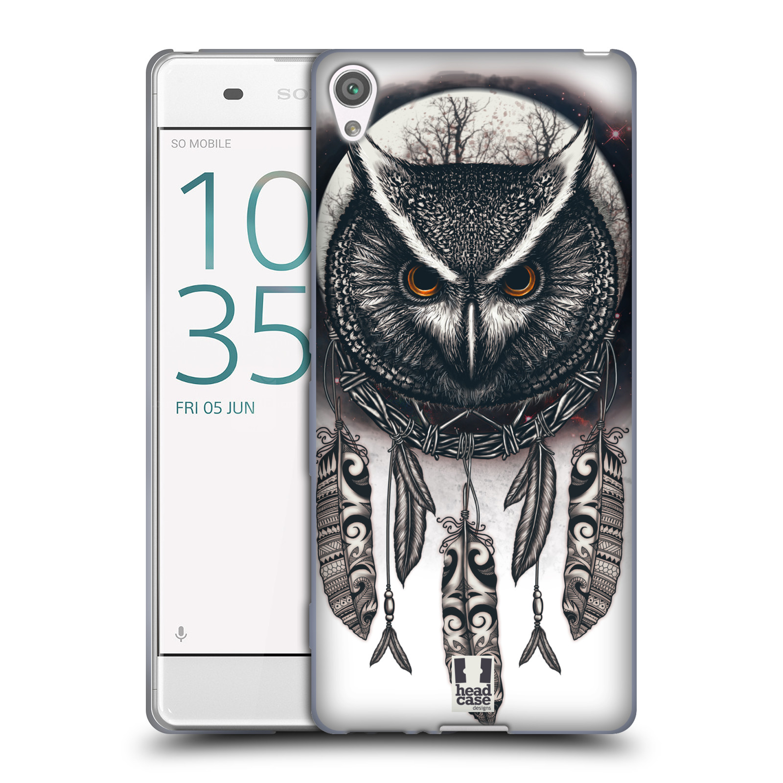 Silikonové pouzdro na mobil Sony Xperia XA - Head Case - Soví lapač
