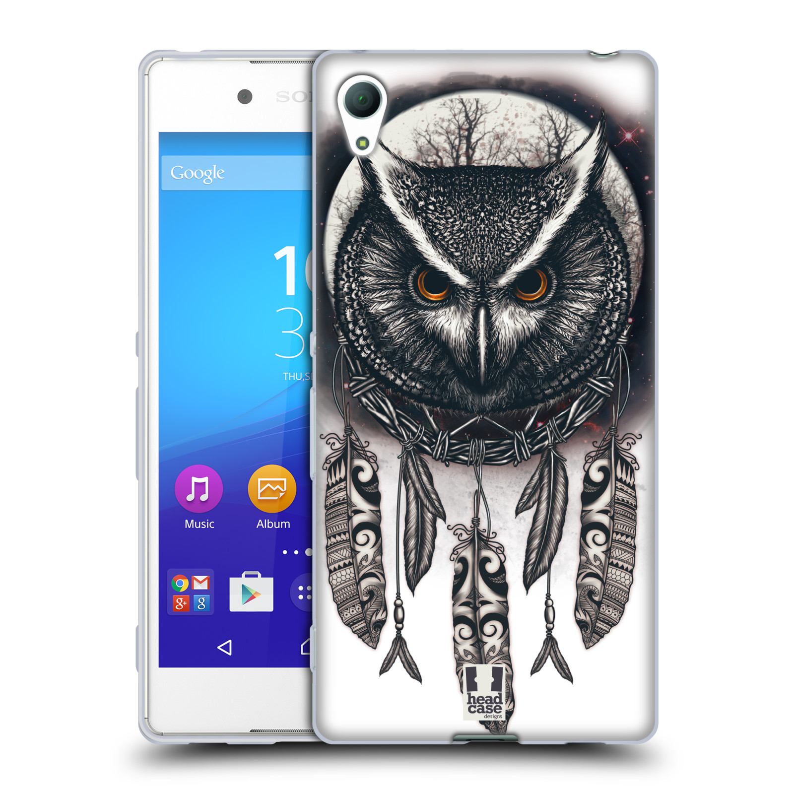 Silikonové pouzdro na mobil Sony Xperia Z3+ (Plus) - Head Case - Soví lapač