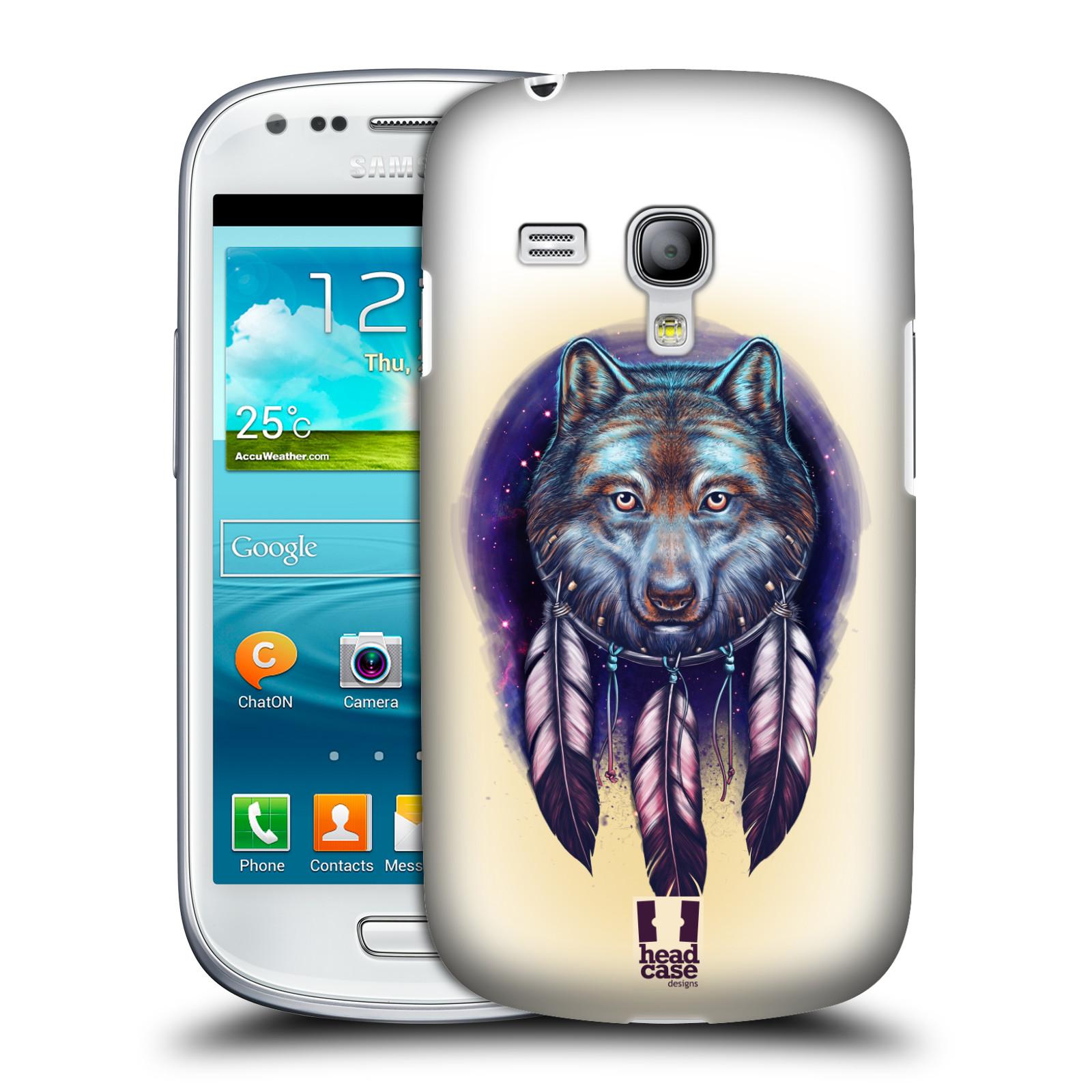 Silikonové pouzdro na mobil Samsung Galaxy S III Mini VE - Head Case - Vlčí lapač (Plastový kryt či obal na mobilní telefon s motivem lapače snů pro Samsung Galaxy S3 Mini VE GT-i8200)