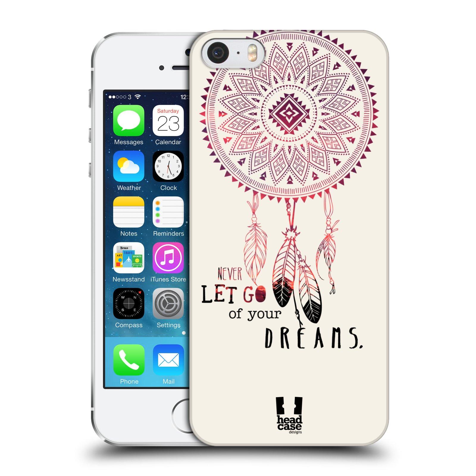 Plastové pouzdro na mobil Apple iPhone SE, 5 a 5S HEAD CASE LAPAČ NEVER DREAMS