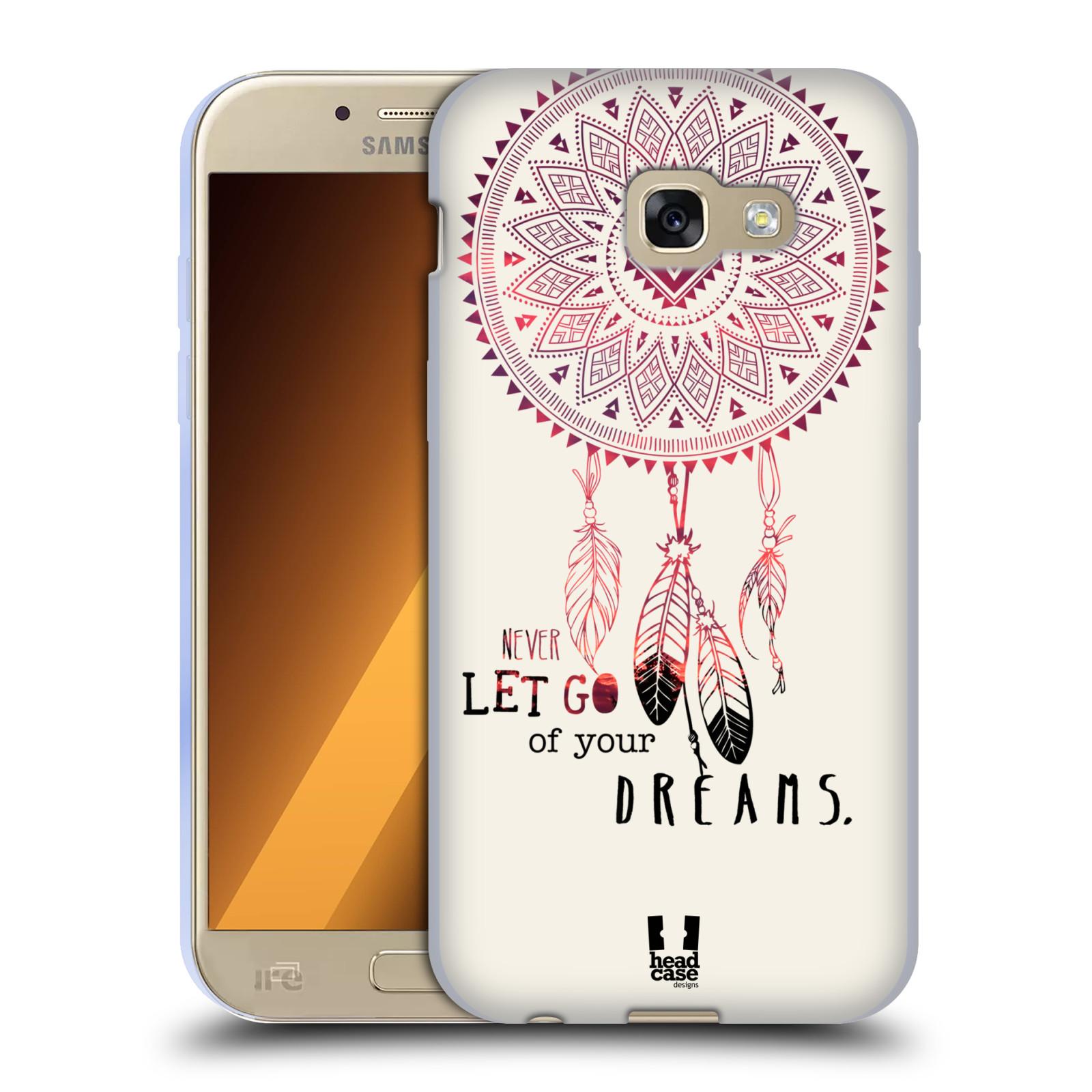 Silikonové pouzdro na mobil Samsung Galaxy A5 (2017) HEAD CASE LAPAČ NEVER DREAMS