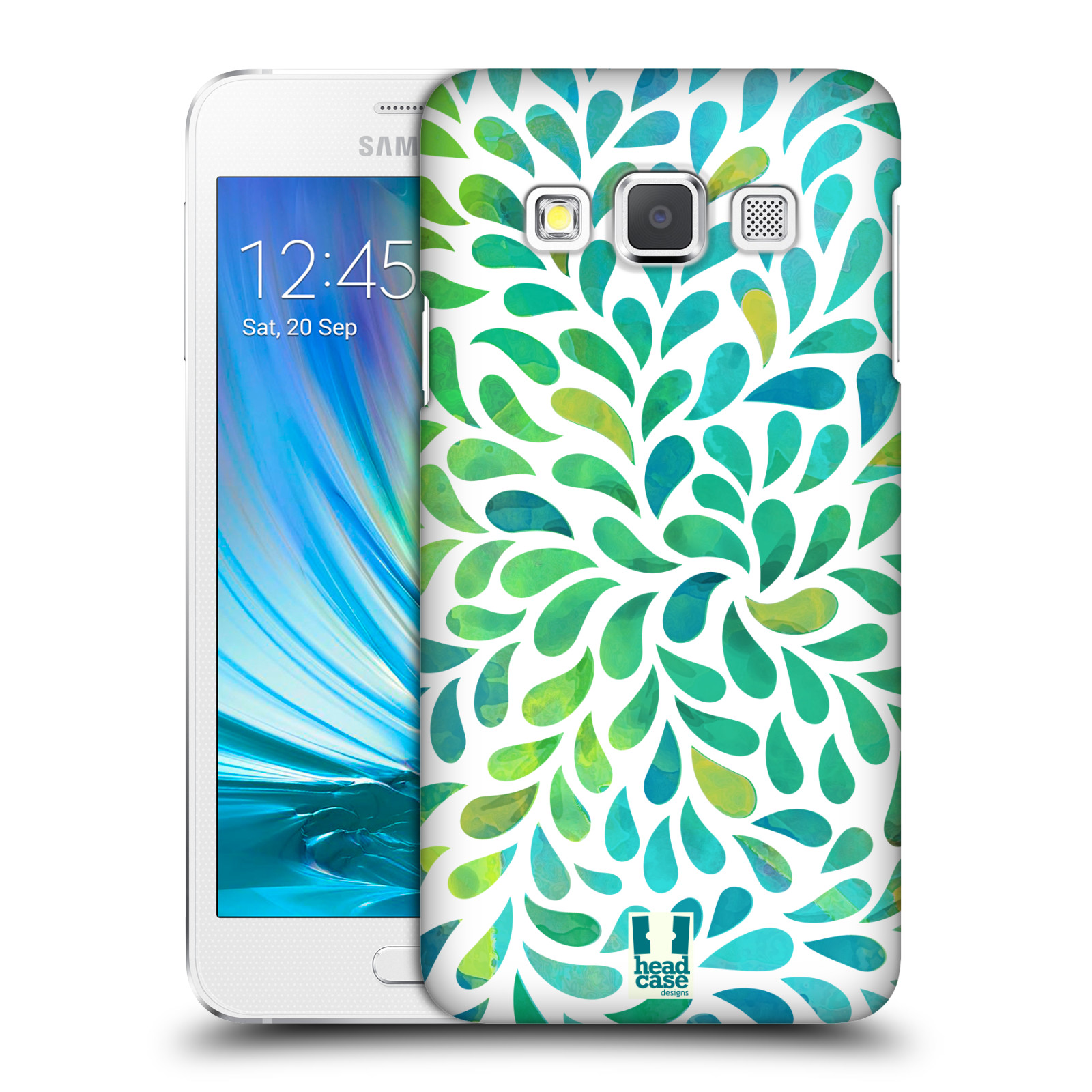 Plastové pouzdro na mobil Samsung Galaxy A3 HEAD CASE Droplet Wave Kapičky (Kryt či obal na mobilní telefon Samsung Galaxy A3 SM-A300)