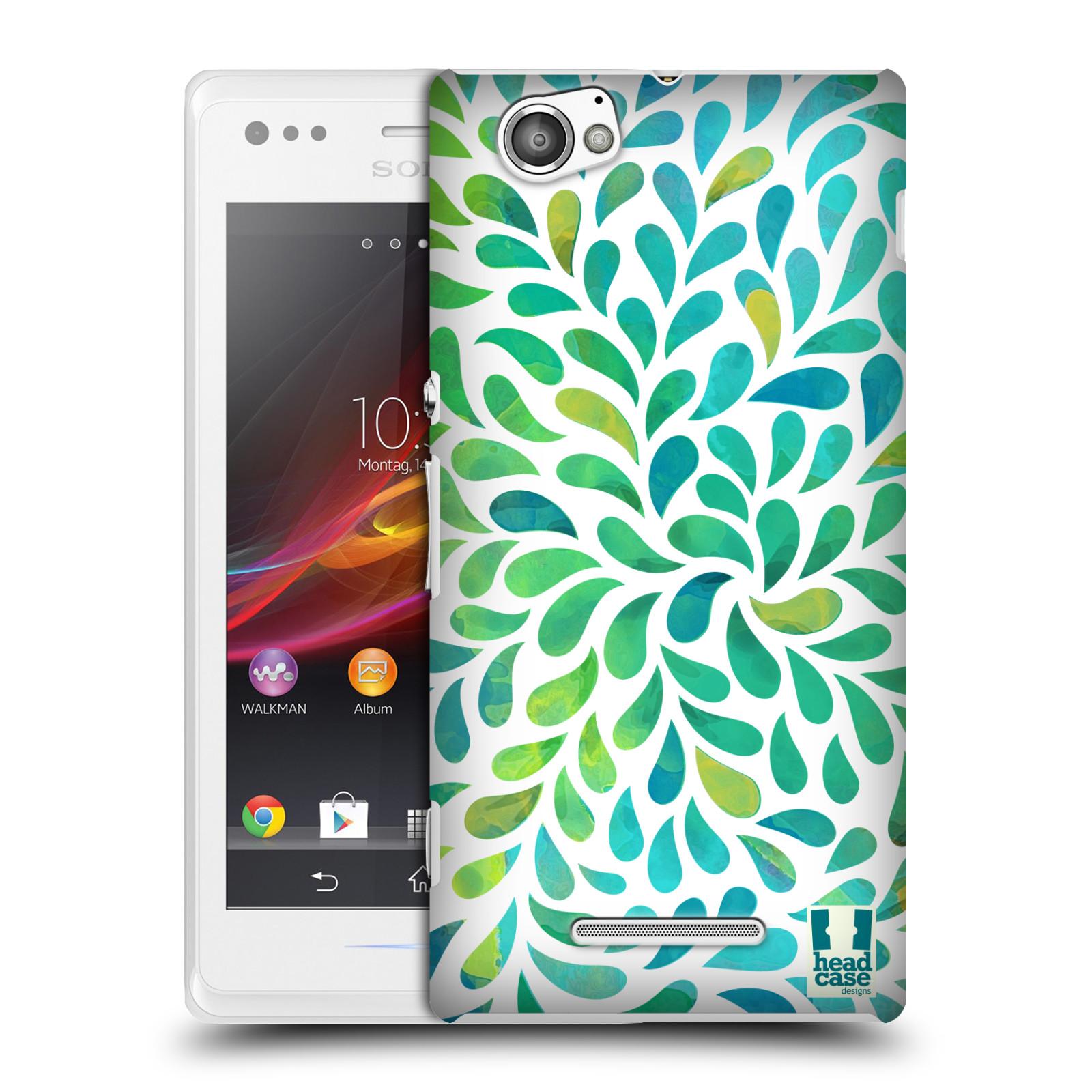 Plastové pouzdro na mobil Sony Xperia M C1905 HEAD CASE Droplet Wave Kapičky (Kryt či obal na mobilní telefon Sony Xperia M )