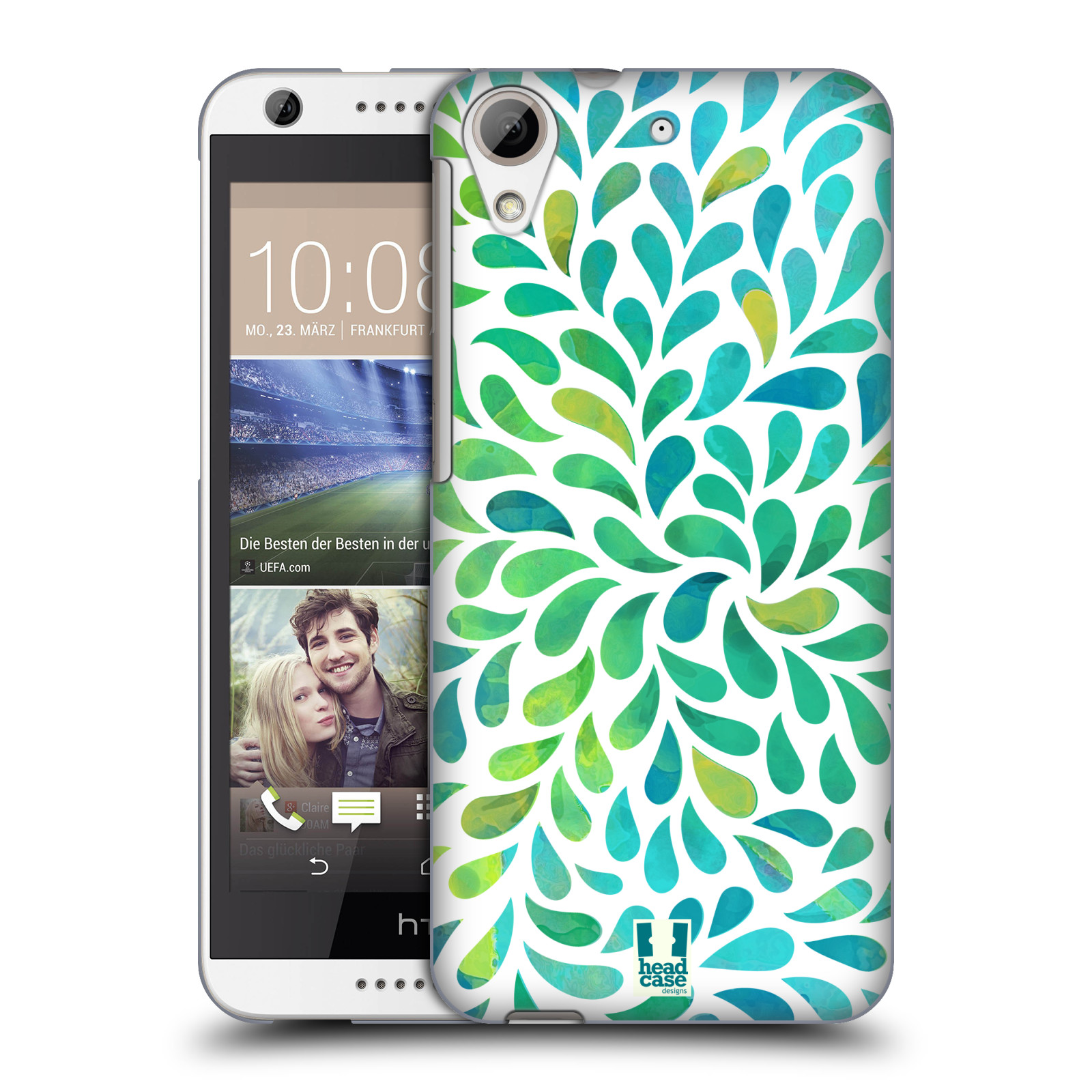 Plastové pouzdro na mobil HTC Desire 626 / 626G HEAD CASE Droplet Wave Kapičky (Kryt či obal na mobilní telefon HTC Desire 626G Dual SIM a HTC Desire 626)