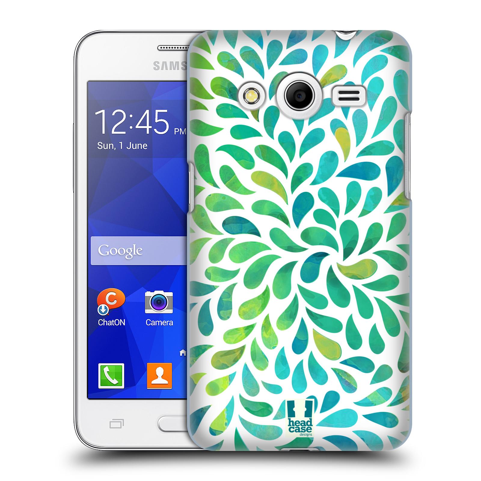 Plastové pouzdro na mobil Samsung Galaxy Core 2 HEAD CASE Droplet Wave Kapičky (Kryt či obal na mobilní telefon Samsung Galaxy Core 2 SM-G355H)