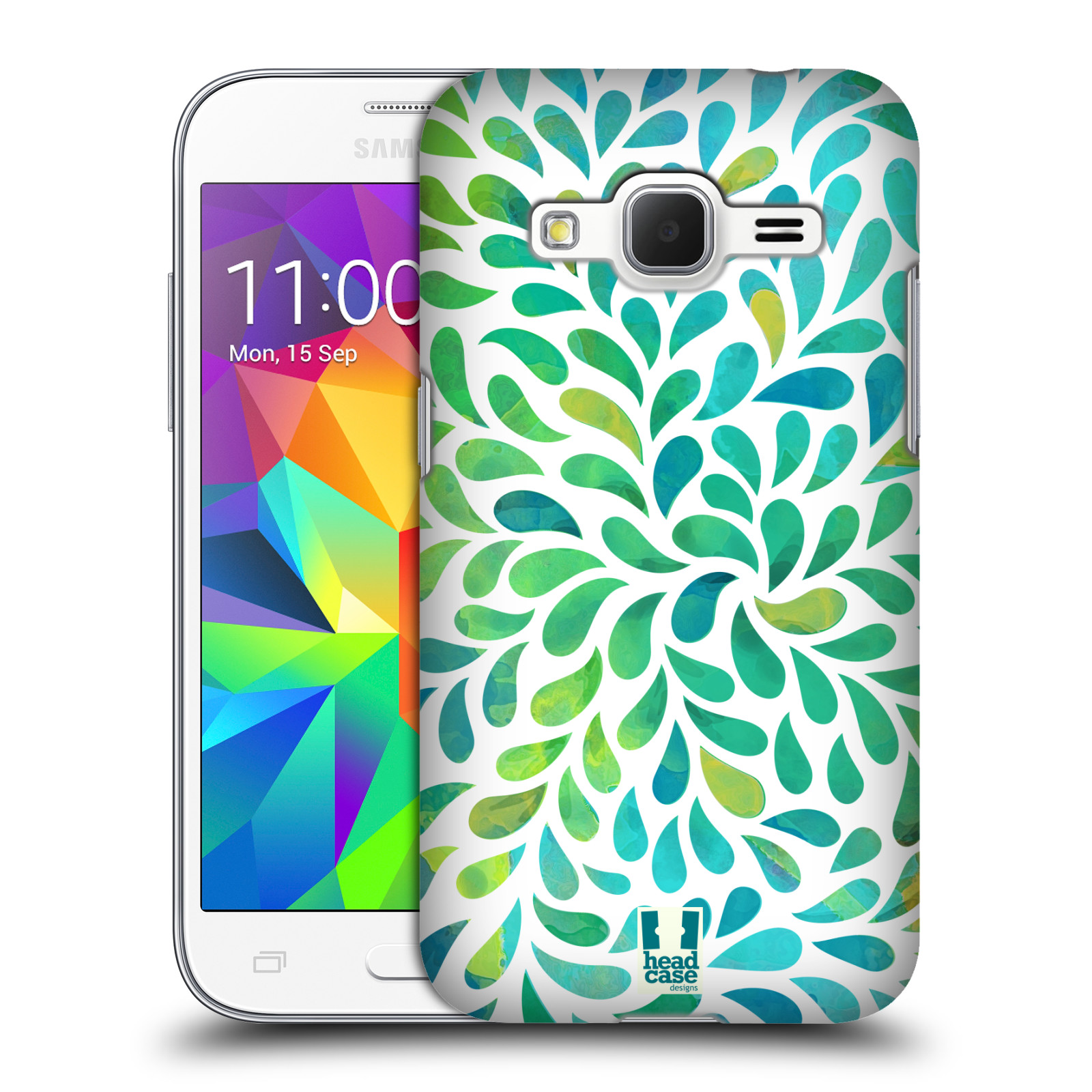Plastové pouzdro na mobil Samsung Galaxy Core Prime LTE HEAD CASE Droplet Wave Kapičky (Kryt či obal na mobilní telefon Samsung Galaxy Core Prime LTE SM-G360)