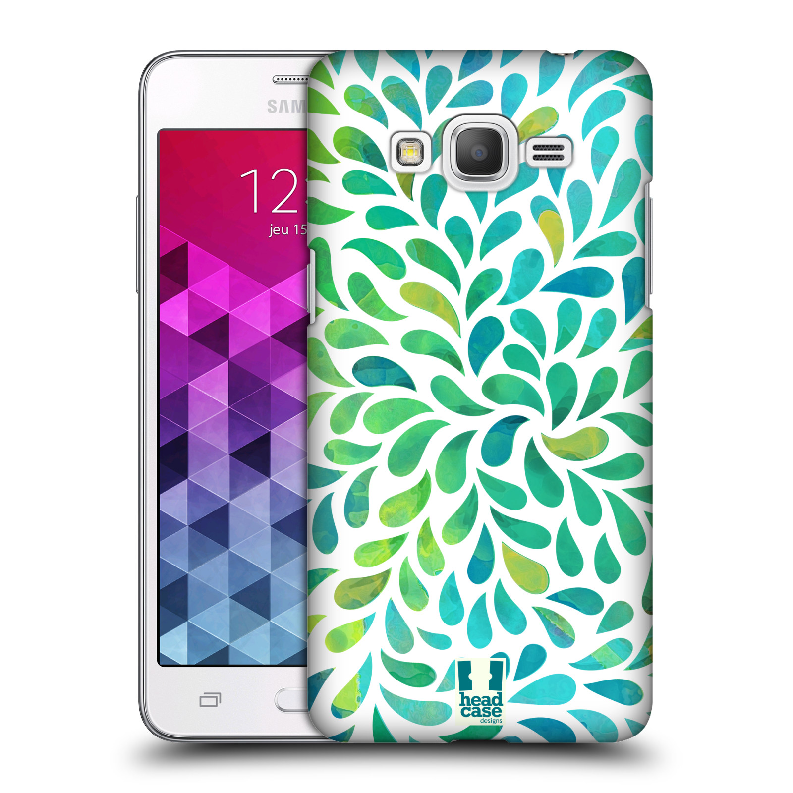 Plastové pouzdro na mobil Samsung Galaxy Grand Prime HEAD CASE Droplet Wave Kapičky
