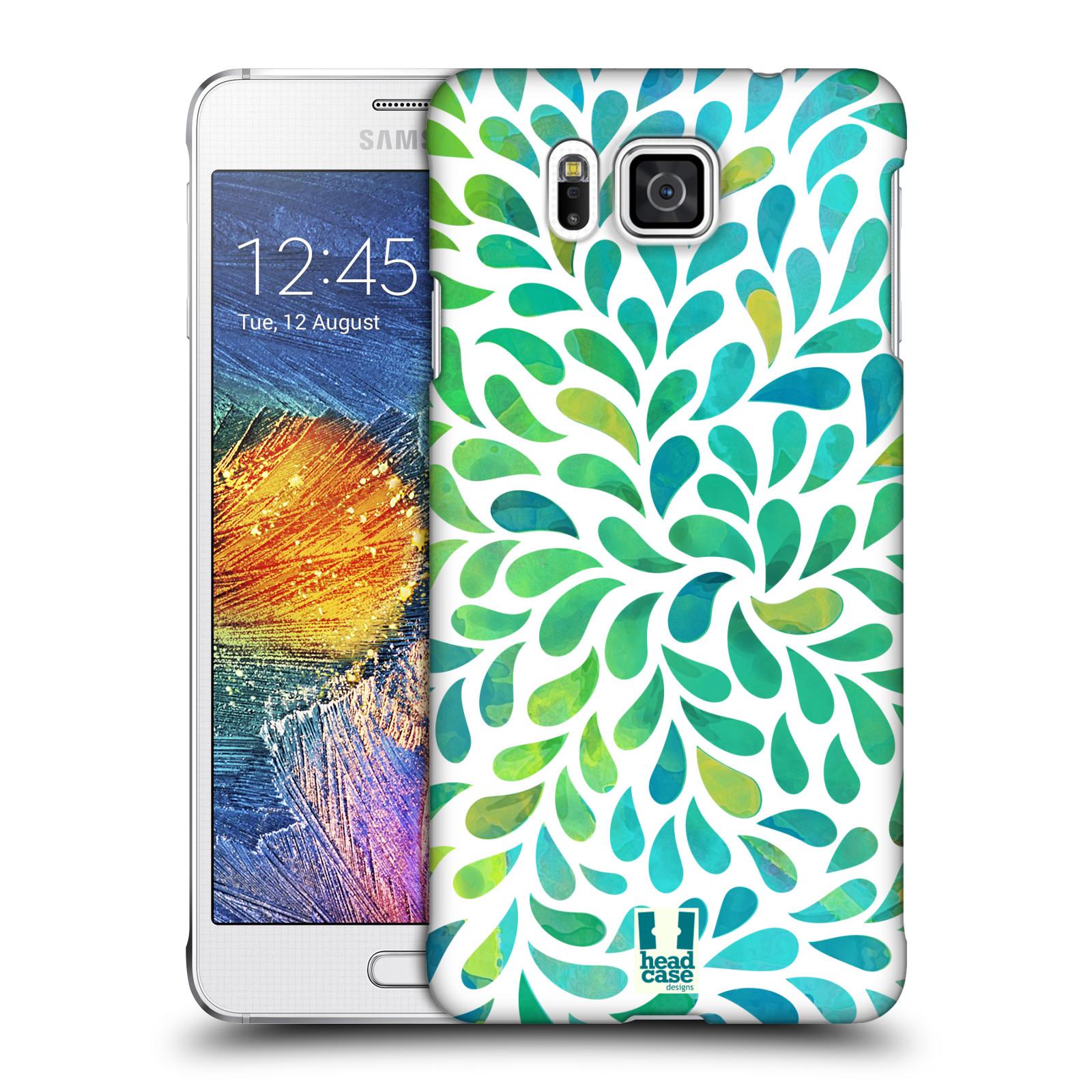 Plastové pouzdro na mobil Samsung Galaxy Alpha HEAD CASE Droplet Wave Kapičky (Kryt či obal na mobilní telefon Samsung Galaxy Alpha SM-G850)