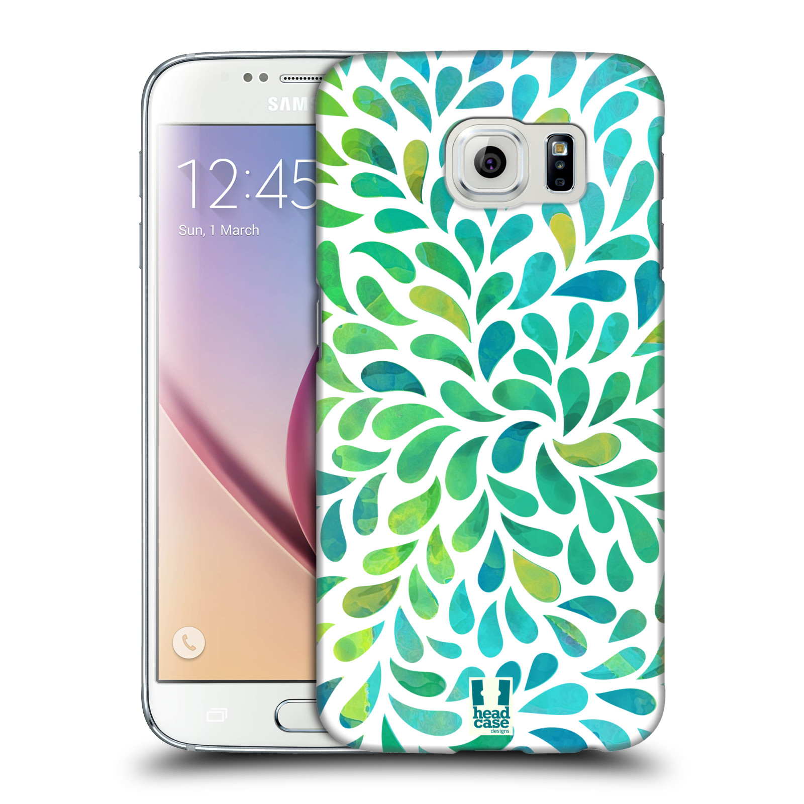 Plastové pouzdro na mobil Samsung Galaxy S6 HEAD CASE Droplet Wave Kapičky (Kryt či obal na mobilní telefon Samsung Galaxy S6 SM-G920F)