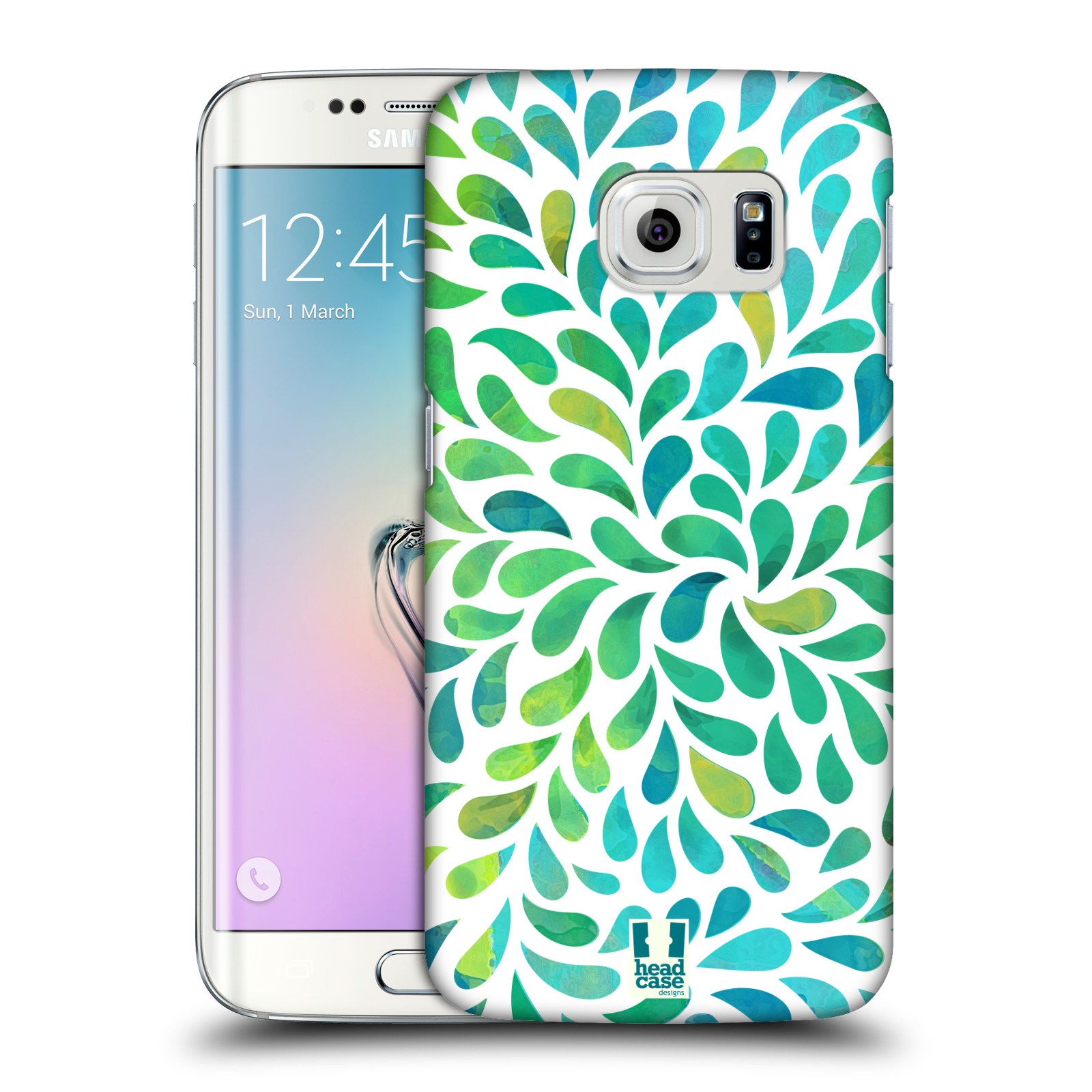 Plastové pouzdro na mobil Samsung Galaxy S6 Edge HEAD CASE Droplet Wave Kapičky (Kryt či obal na mobilní telefon Samsung Galaxy S6 Edge SM-G925F)