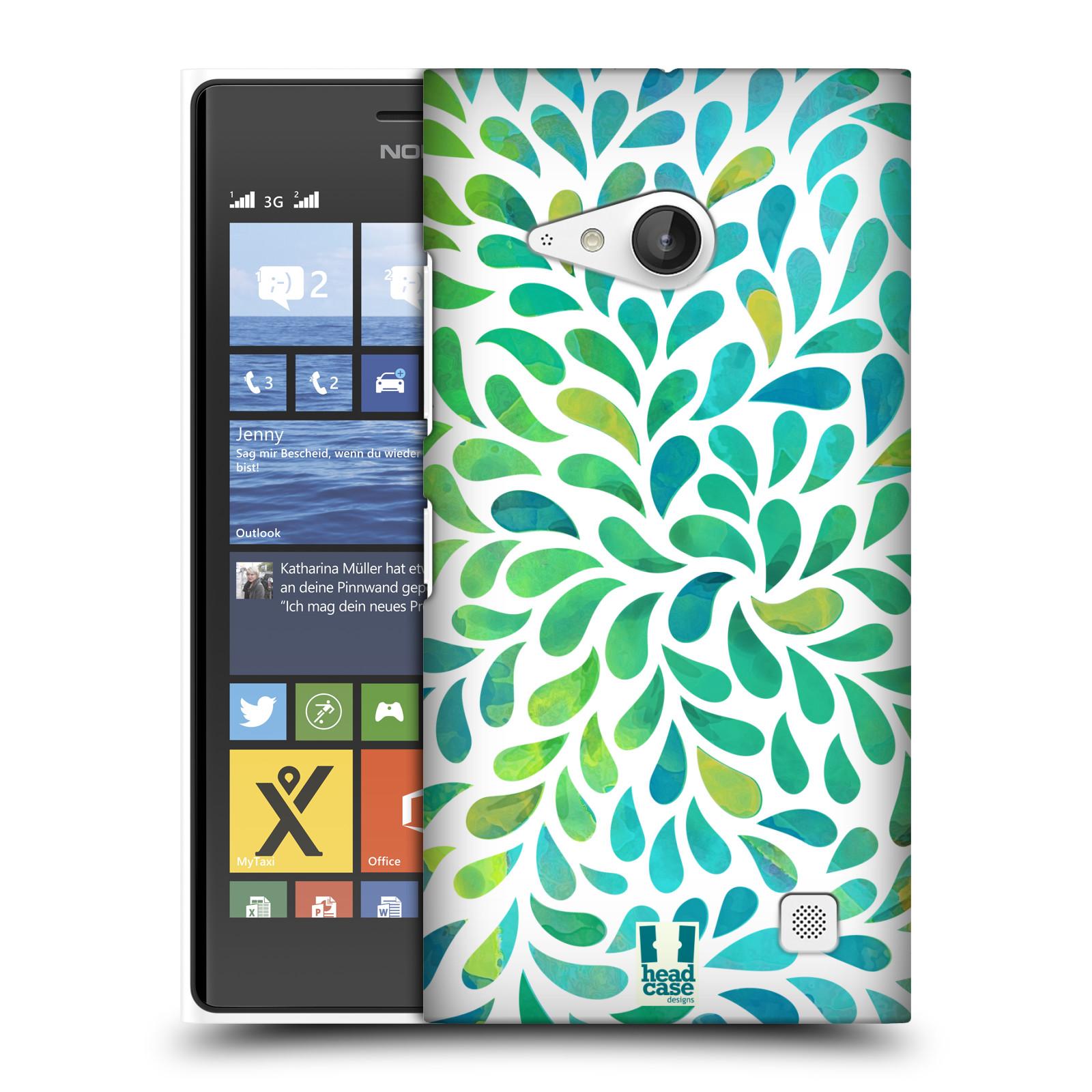Plastové pouzdro na mobil Nokia Lumia 730 Dual SIM HEAD CASE Droplet Wave Kapičky (Kryt či obal na mobilní telefon Nokia Lumia 730 Dual SIM)