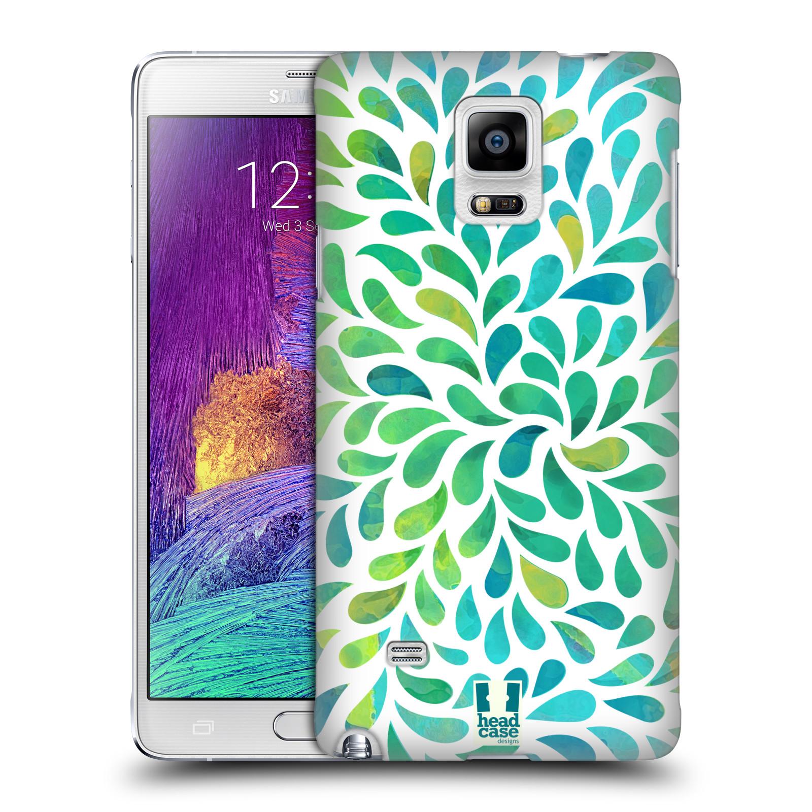 Plastové pouzdro na mobil Samsung Galaxy Note 4 HEAD CASE Droplet Wave Kapičky (Kryt či obal na mobilní telefon Samsung Galaxy Note 4 SM-N910F)