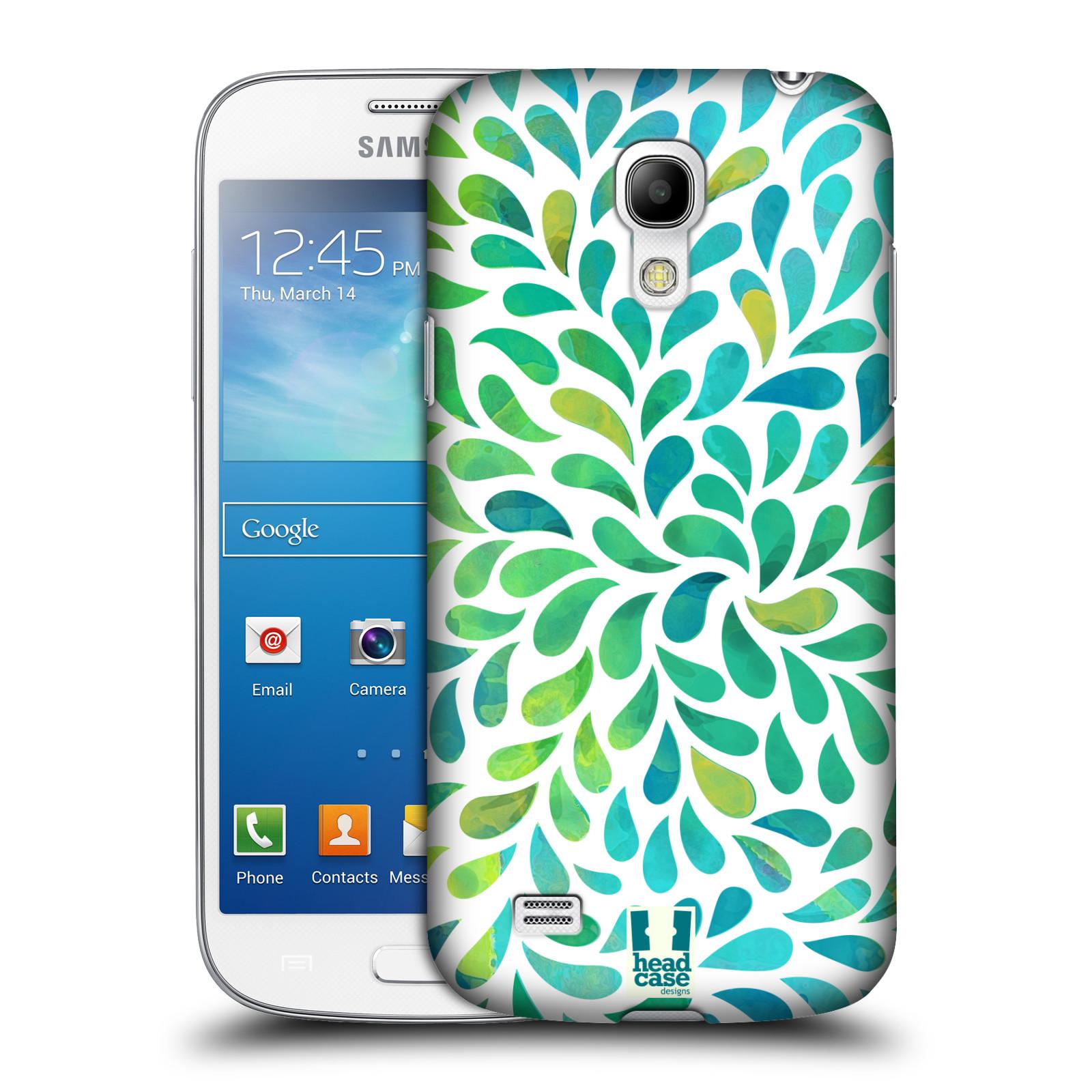 Plastové pouzdro na mobil Samsung Galaxy S4 Mini HEAD CASE Droplet Wave Kapičky (Kryt či obal na mobilní telefon Samsung Galaxy S4 Mini GT-i9195 / i9190)