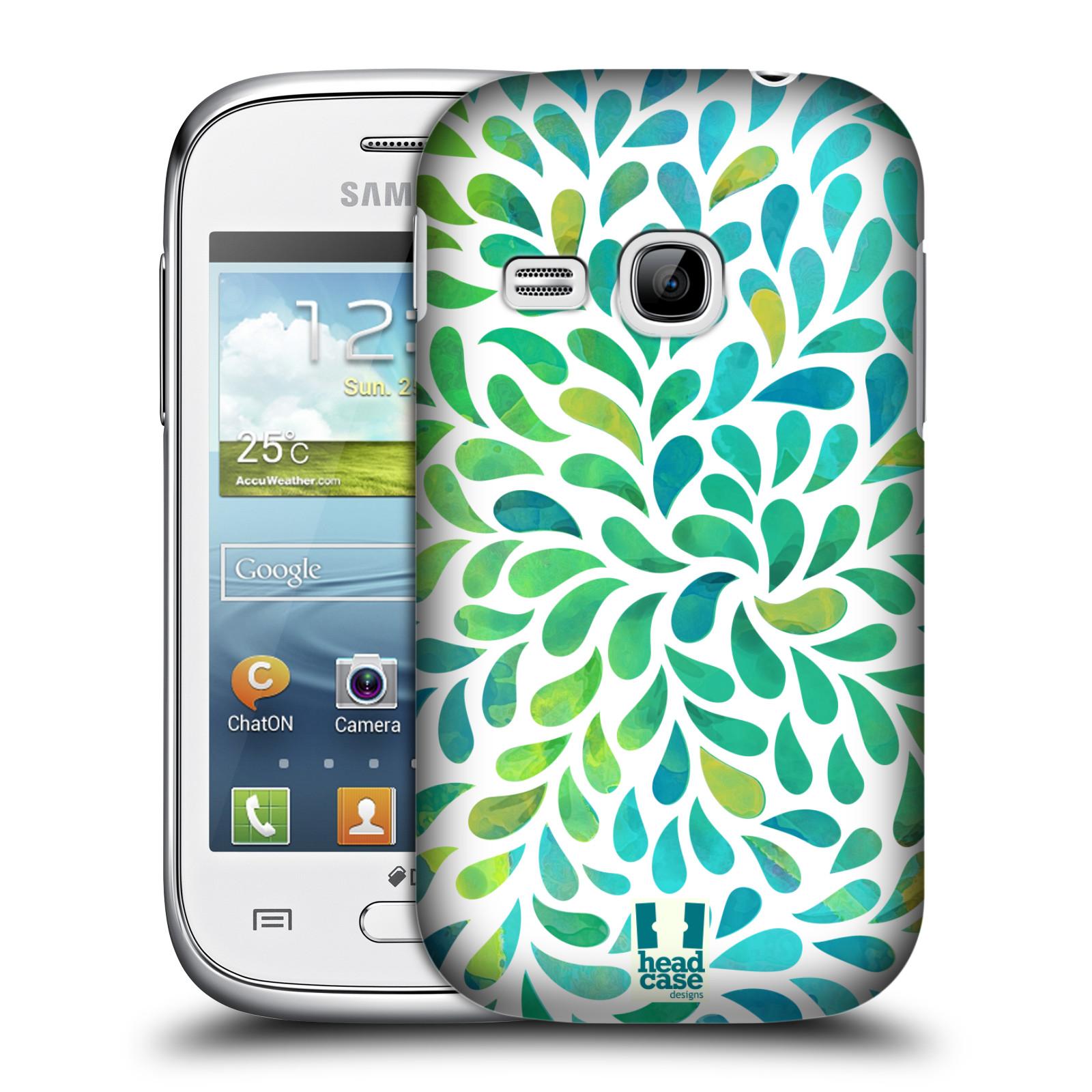 Plastové pouzdro na mobil Samsung Galaxy Young HEAD CASE Droplet Wave Kapičky (Kryt či obal na mobilní telefon Samsung Galaxy Young GT-S6310)