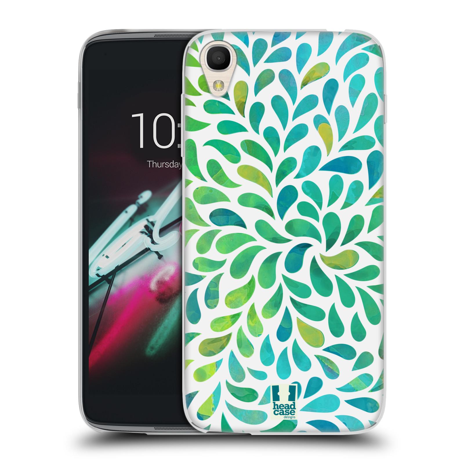 """Silikonové pouzdro na mobil Alcatel One Touch 6039Y Idol 3 HEAD CASE Droplet Wave Kapičky (Silikonový kryt či obal na mobilní telefon Alcatel One Touch Idol 3 OT-6039Y s 4,7"""" displejem)"""