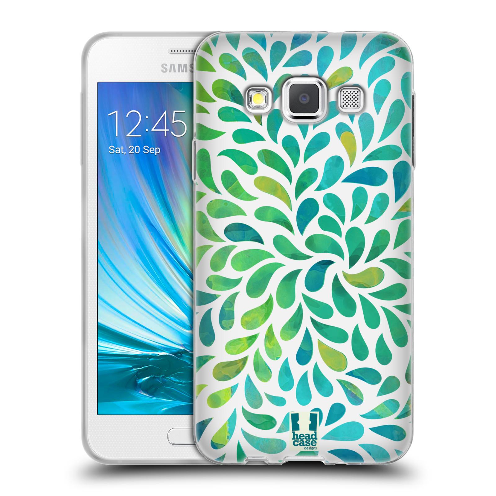Silikonové pouzdro na mobil Samsung Galaxy A3 HEAD CASE Droplet Wave Kapičky