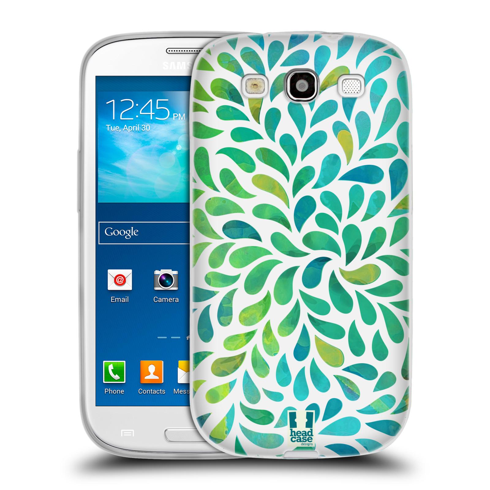 Silikonové pouzdro na mobil Samsung Galaxy S III HEAD CASE Droplet Wave Kapičky (Silikonový kryt či obal na mobilní telefon Samsung Galaxy S III GT-i9300)