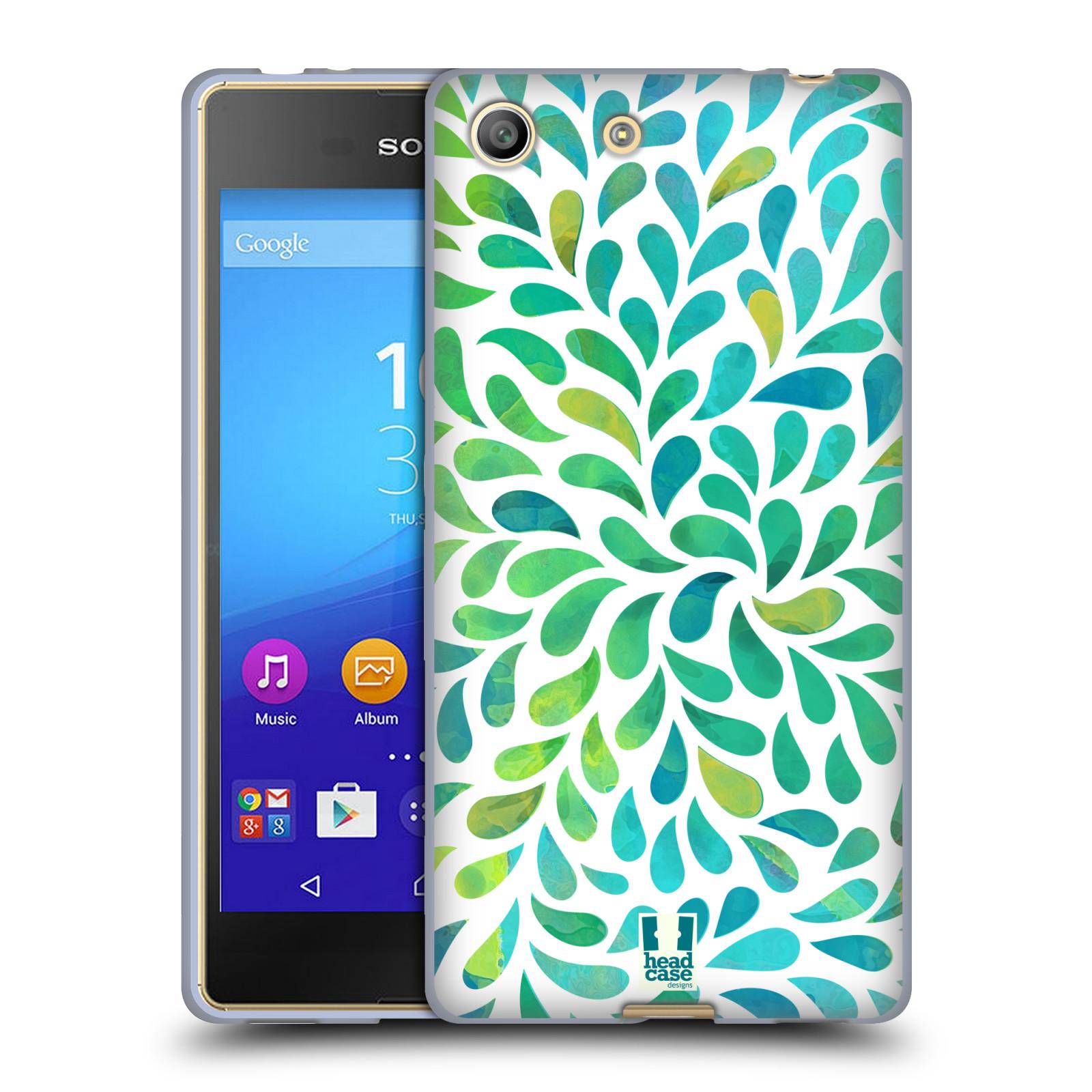 Silikonové pouzdro na mobil Sony Xperia M5 HEAD CASE Droplet Wave Kapičky (Silikonový kryt či obal na mobilní telefon Sony Xperia M5 Dual SIM / Aqua)