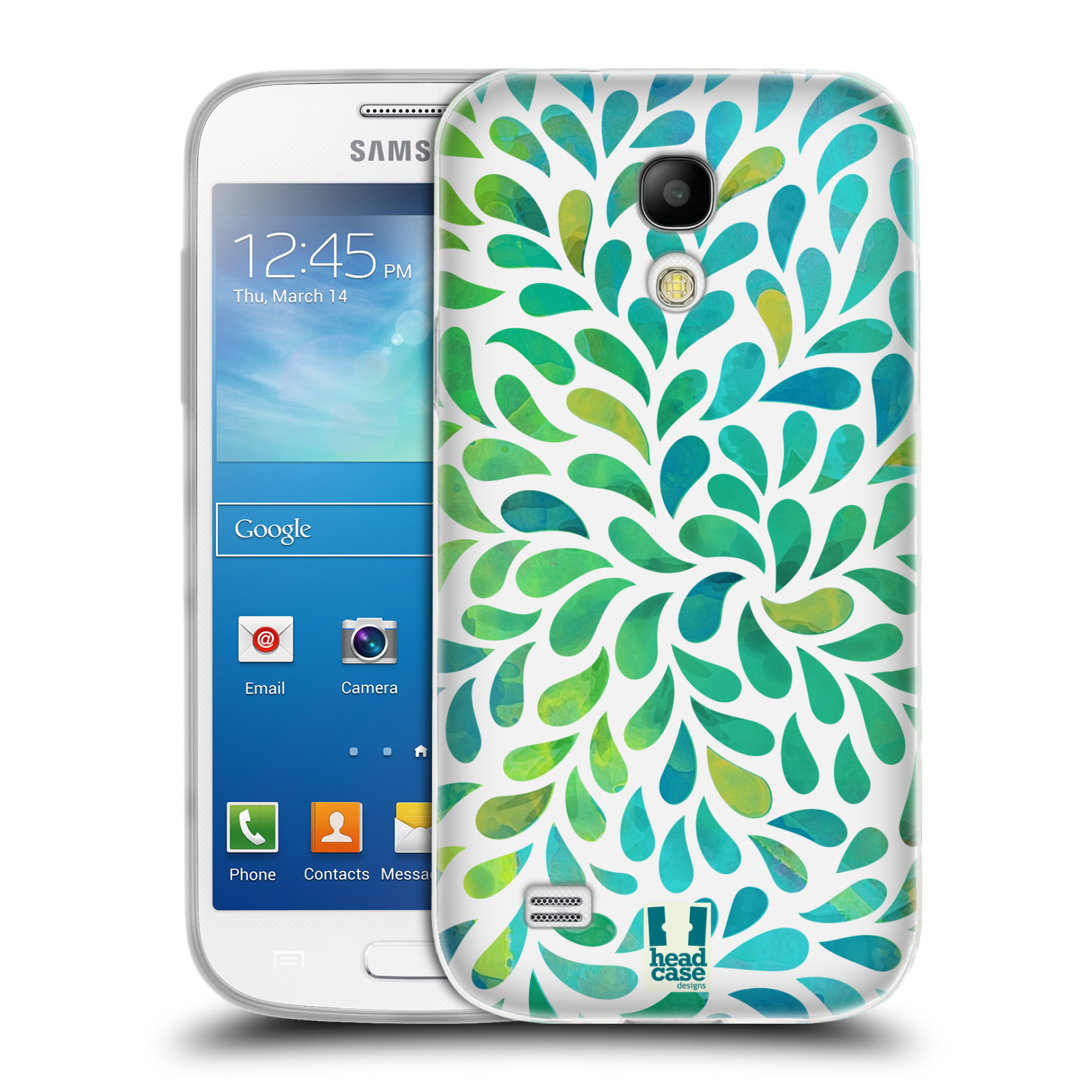 Silikonové pouzdro na mobil Samsung Galaxy S4 Mini HEAD CASE Droplet Wave Kapičky (Silikonový kryt či obal na mobilní telefon Samsung Galaxy S4 Mini GT-i9195 / i9190)