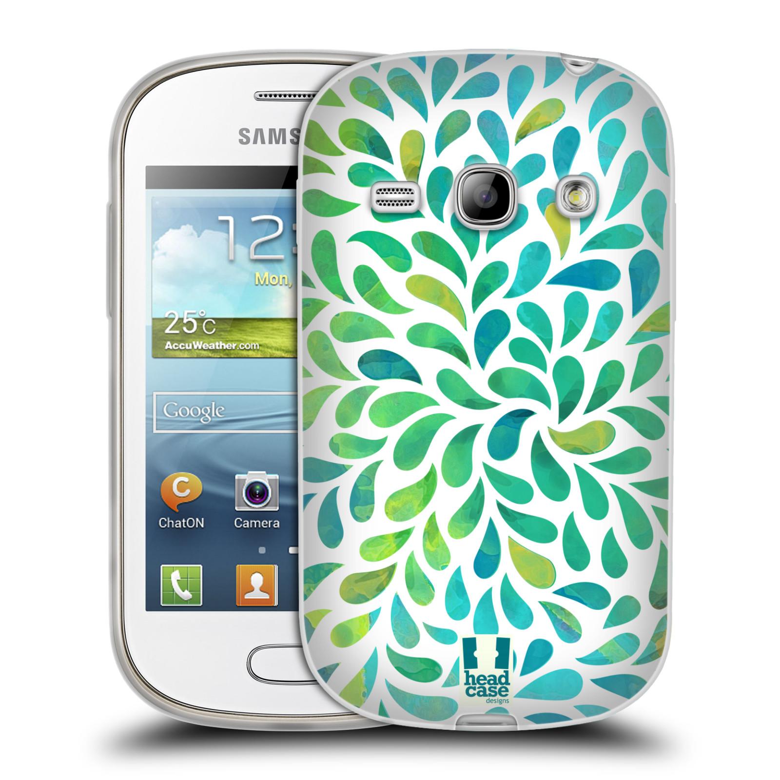 Silikonové pouzdro na mobil Samsung Galaxy Fame HEAD CASE Droplet Wave Kapičky (Silikonový kryt či obal na mobilní telefon Samsung Galaxy Fame GT-S6810)