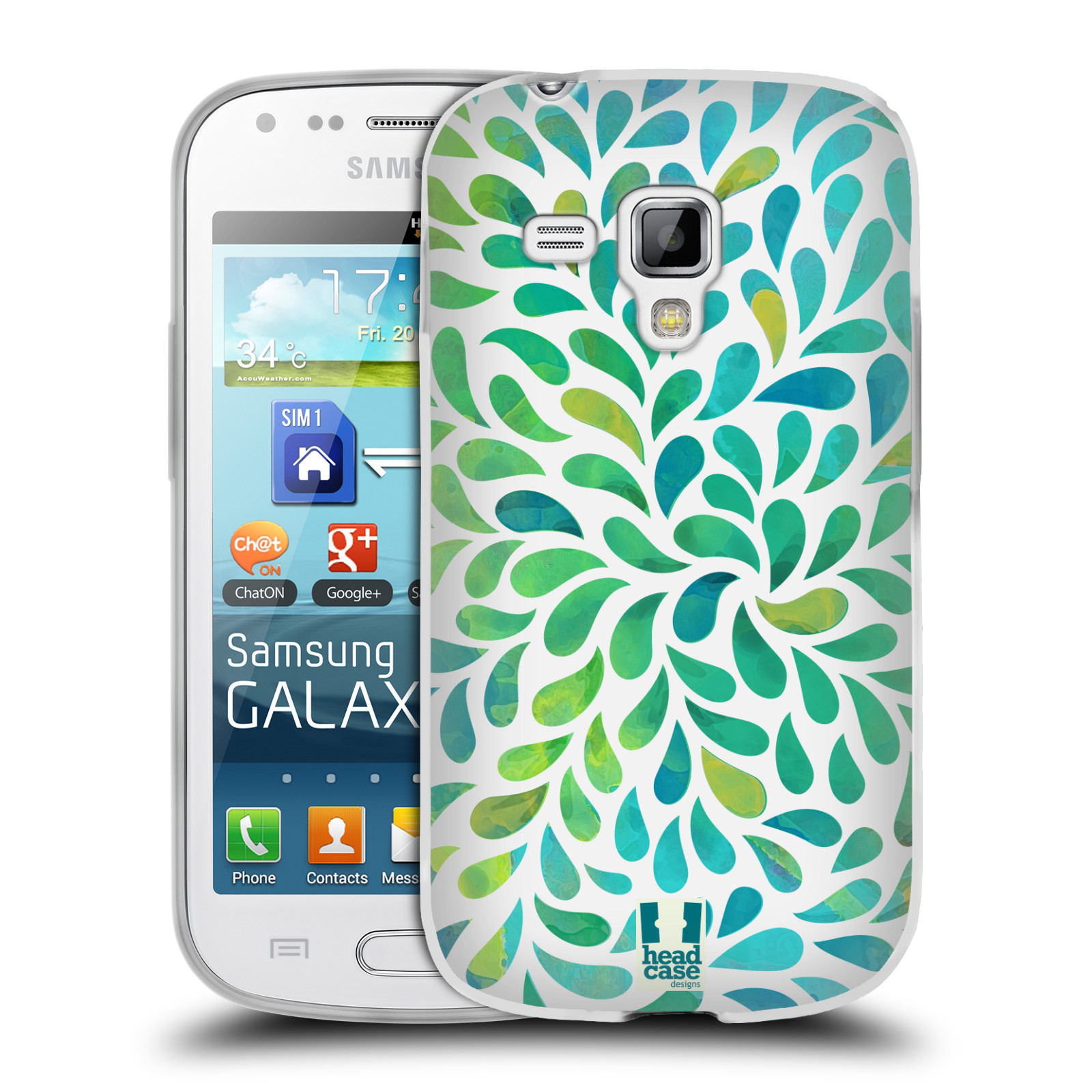 Silikonové pouzdro na mobil Samsung Galaxy S Duos 2 HEAD CASE Droplet Wave Kapičky (Silikonový kryt či obal na mobilní telefon Samsung Galaxy S Duos 2 GT-S7582)