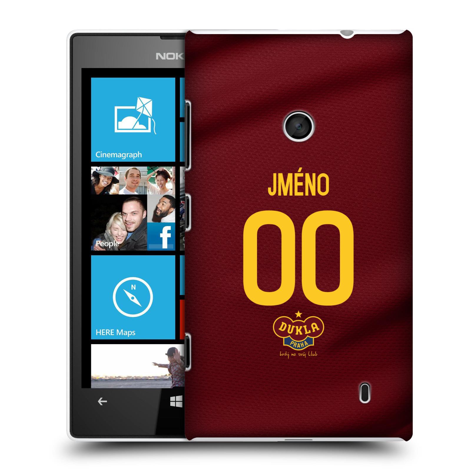 Plastové pouzdro na mobil Nokia Lumia 520 - FK Dukla Praha - dres s vlastním jménem a číslem