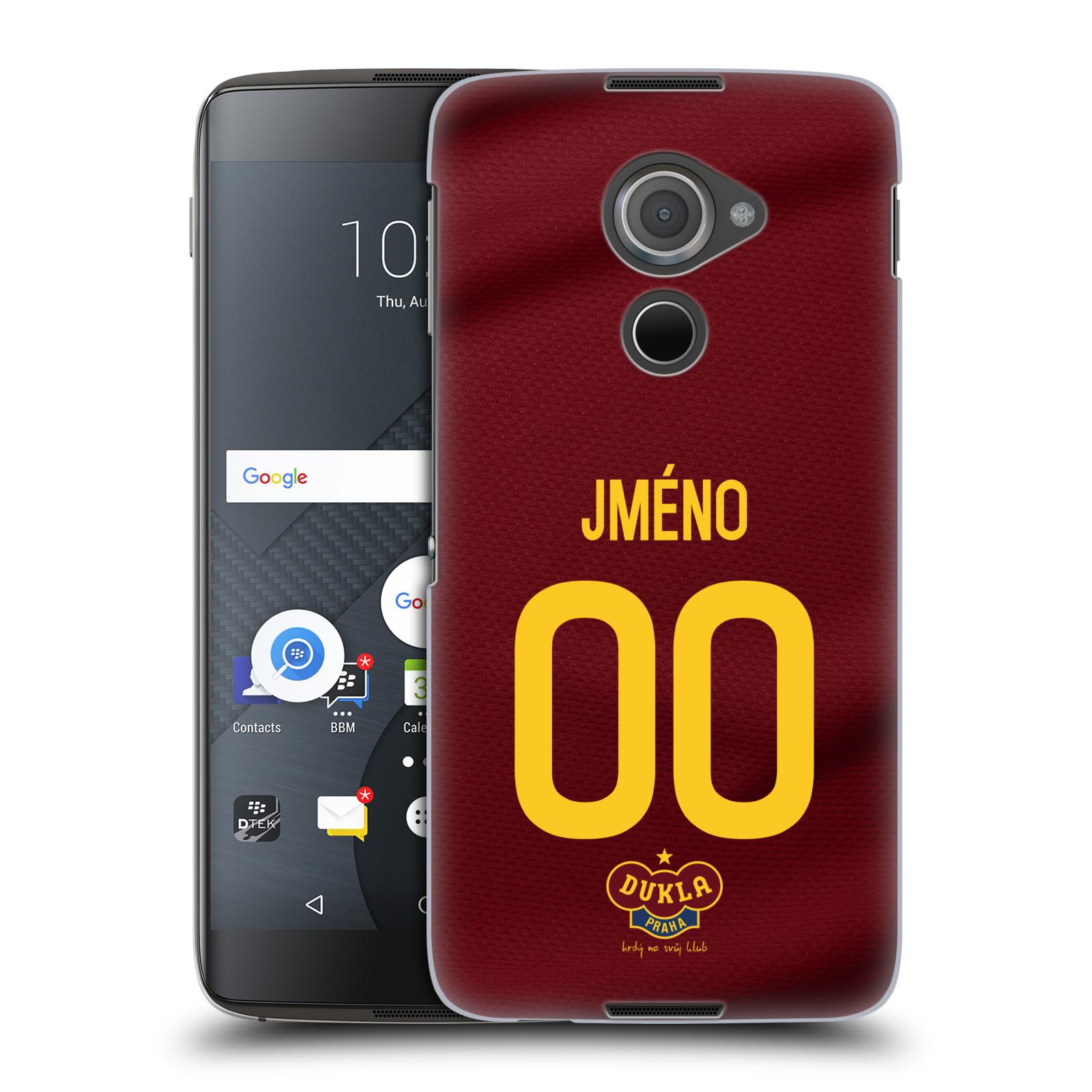 Plastové pouzdro na mobil Blackberry DTEK60 (Argon) - FK Dukla Praha - dres s vlastním jménem a číslem