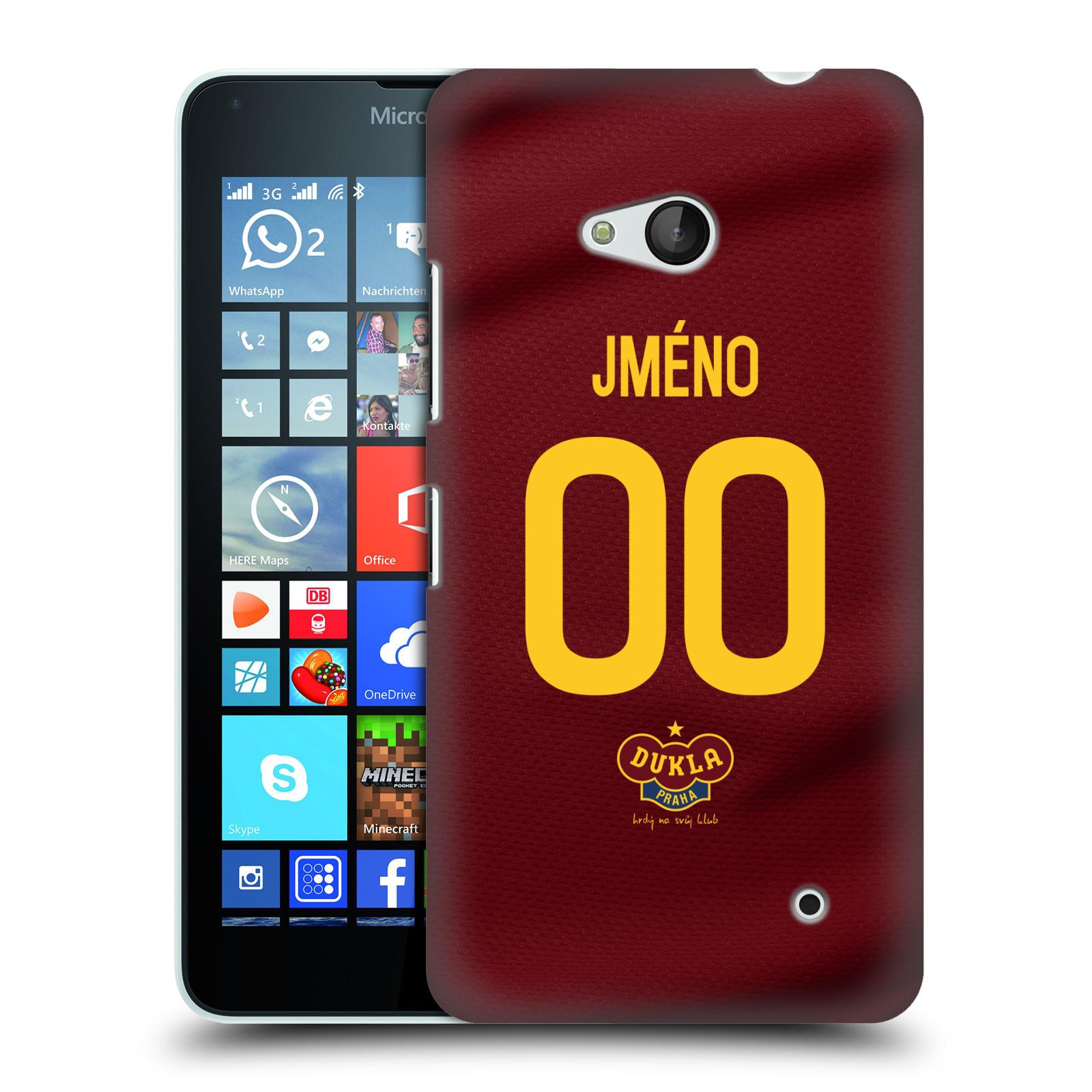 Plastové pouzdro na mobil Microsoft Lumia 640 - FK Dukla Praha - dres s vlastním jménem a číslem (Plastový kryt či obal na mobilní telefon s oficiálním motivem FK Dukla Praha - dres s vlastním jménem a číslem pro Microsoft Lumia 640)