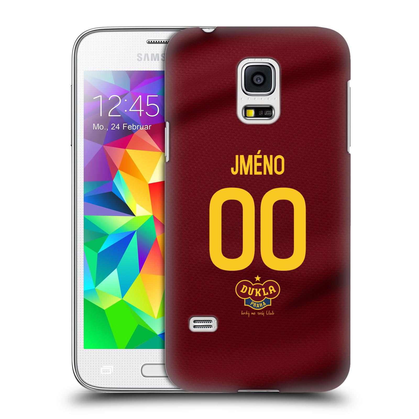 Plastové pouzdro na mobil Samsung Galaxy S5 Mini - FK Dukla Praha - dres s vlastním jménem a číslem