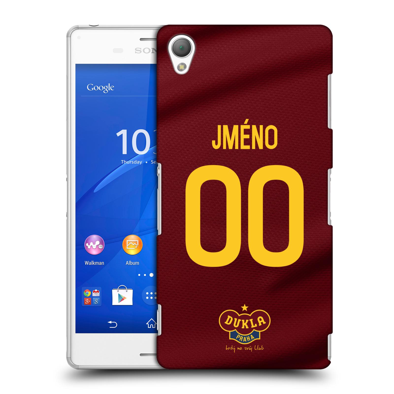Plastové pouzdro na mobil Sony Xperia Z3 D6603 - FK Dukla Praha - dres s vlastním jménem a číslem
