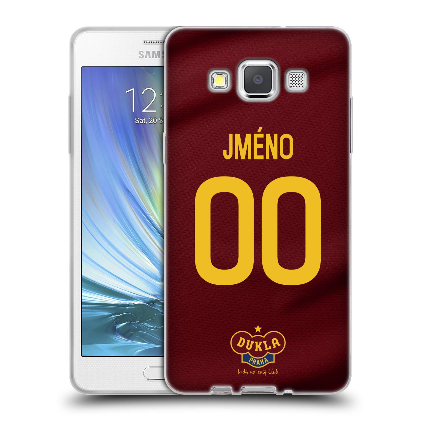 Silikonové pouzdro na mobil Samsung Galaxy A5 - FK Dukla Praha - dres s vlastním jménem a číslem