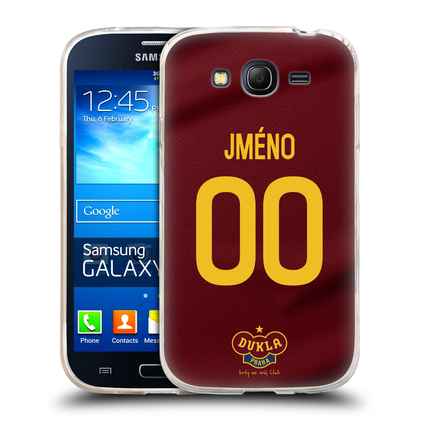 Silikonové pouzdro na mobil Samsung Galaxy Grand Neo Plus - FK Dukla Praha - dres s vlastním jménem a číslem