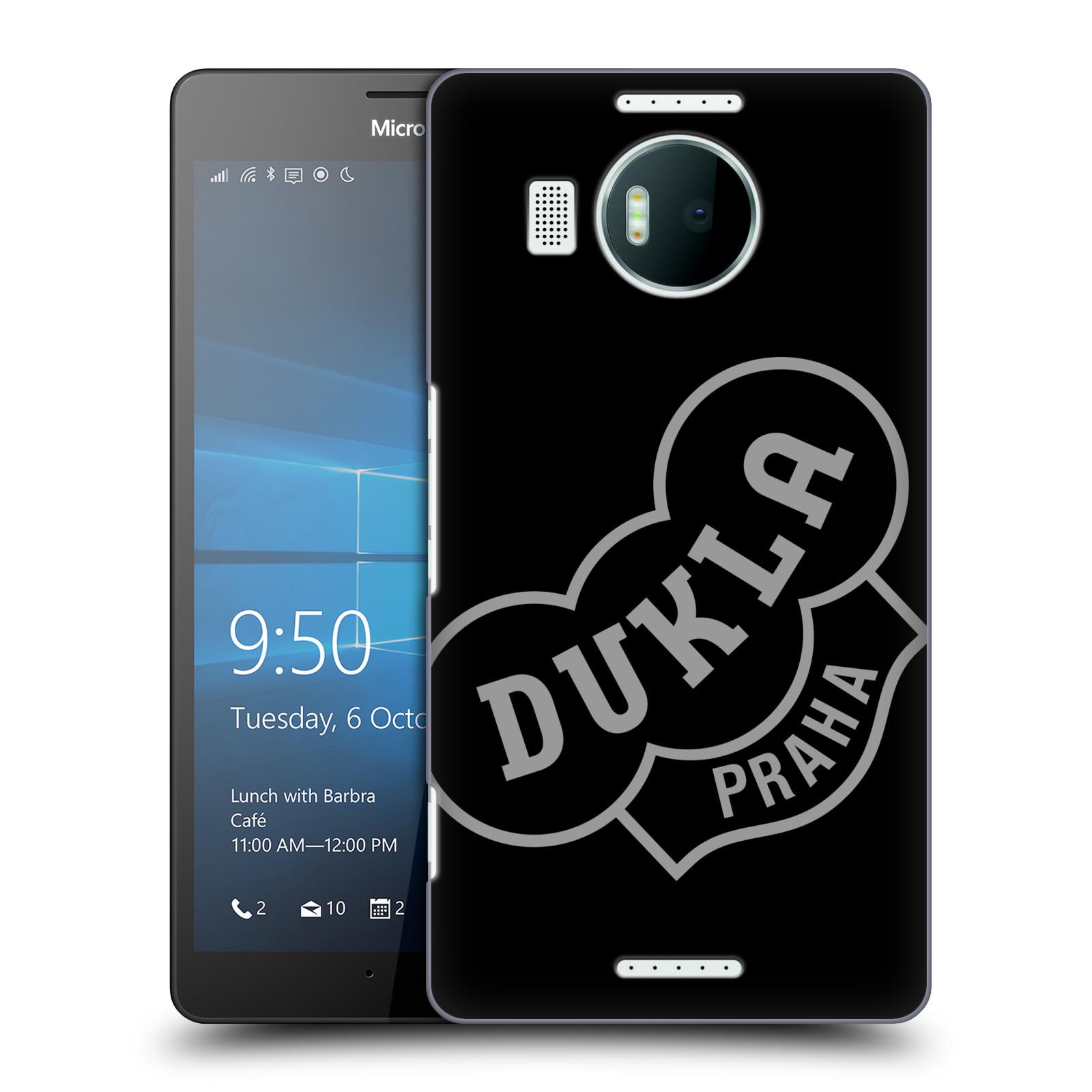 Plastové pouzdro na mobil Microsoft Lumia 950 XL - FK Dukla Praha - Šedé logo