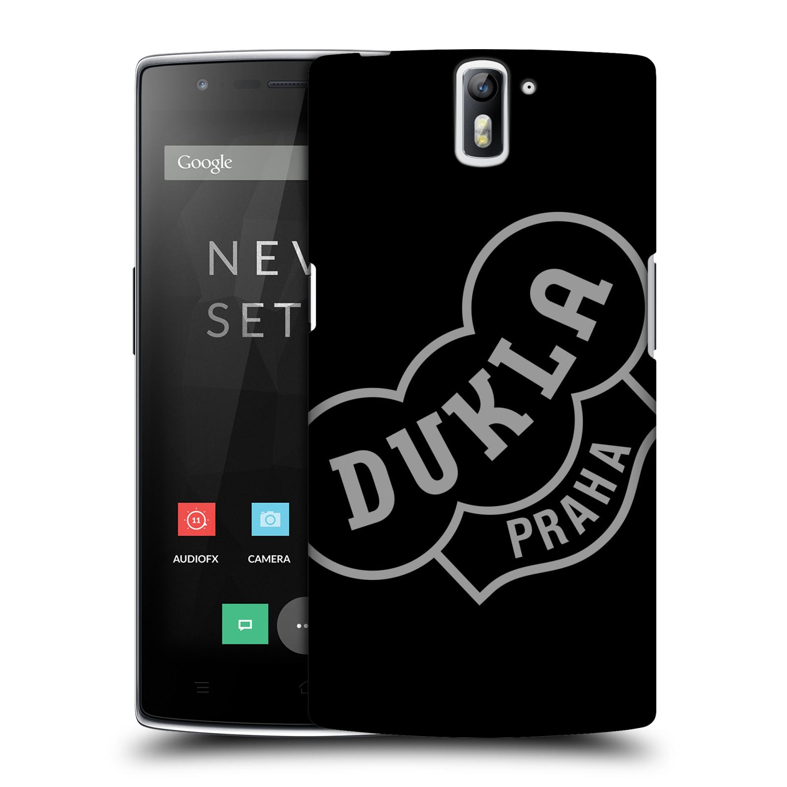 Plastové pouzdro na mobil OnePlus One - FK Dukla Praha - Šedé logo