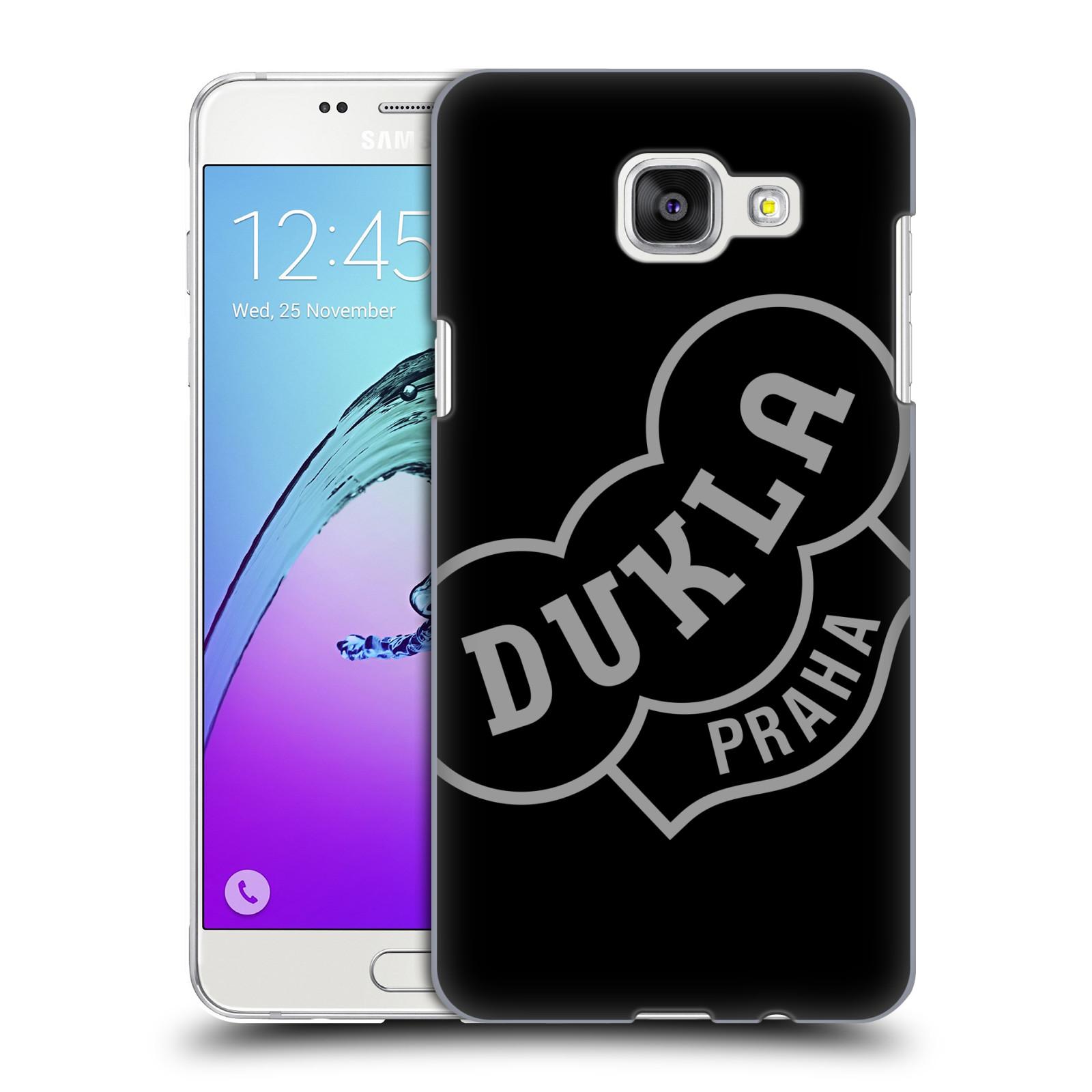 Plastové pouzdro na mobil Samsung Galaxy A5 (2016) - FK Dukla Praha - Šedé logo