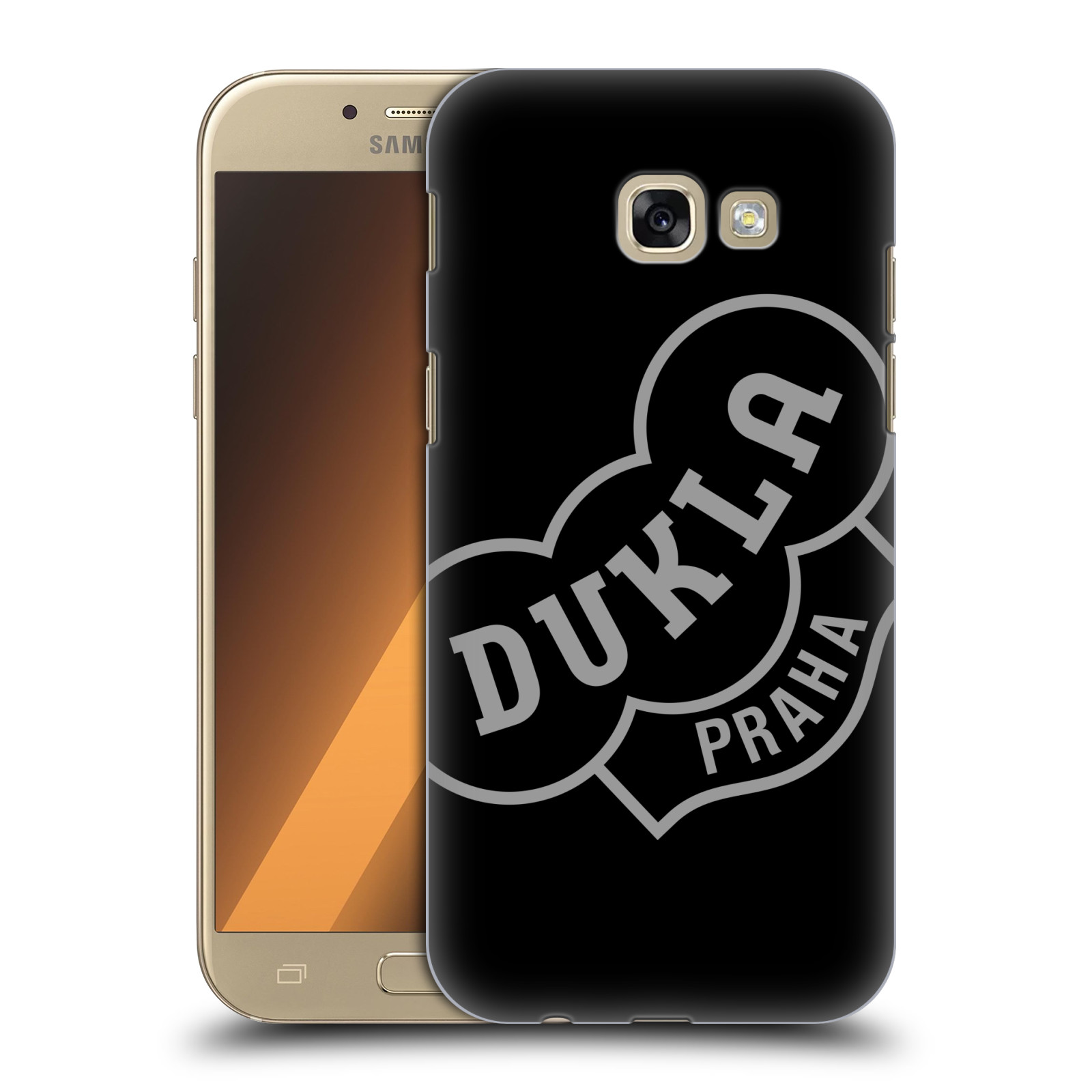Plastové pouzdro na mobil Samsung Galaxy A5 (2017) - FK Dukla Praha - Šedé logo