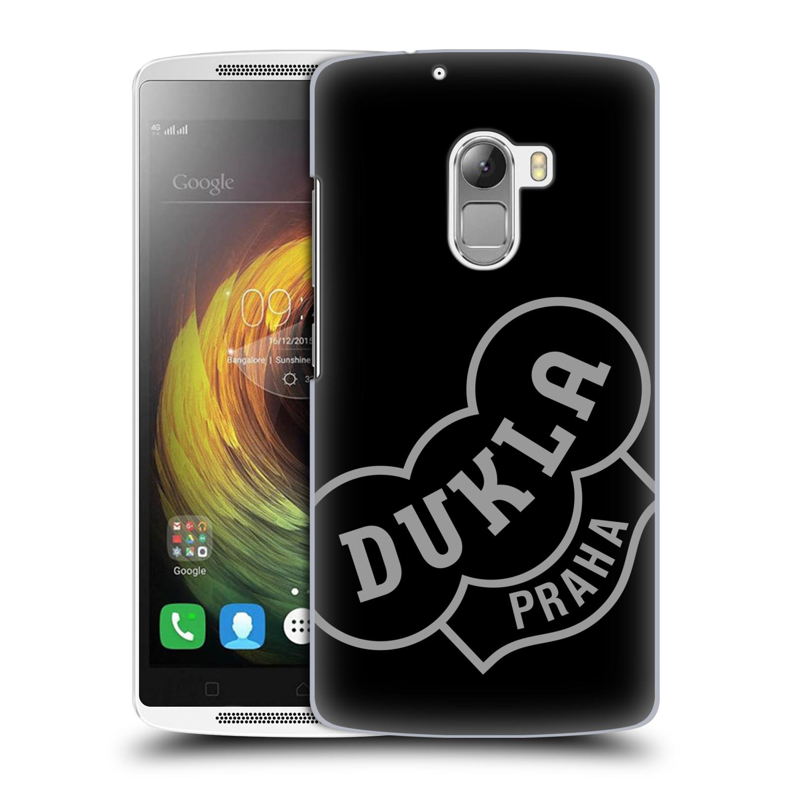 Plastové pouzdro na mobil Lenovo A7010 - FK Dukla Praha - Šedé logo