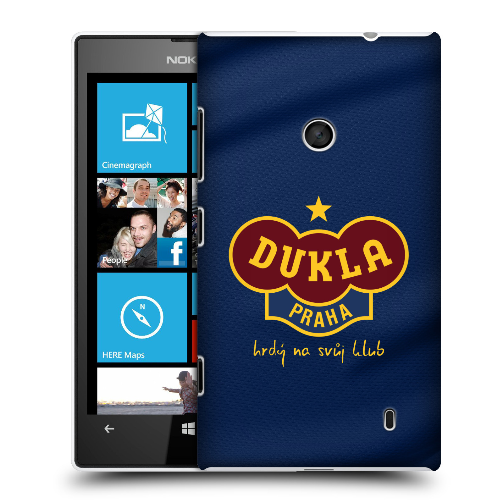 Plastové pouzdro na mobil Nokia Lumia 520 - FK Dukla Praha - Modrý dres