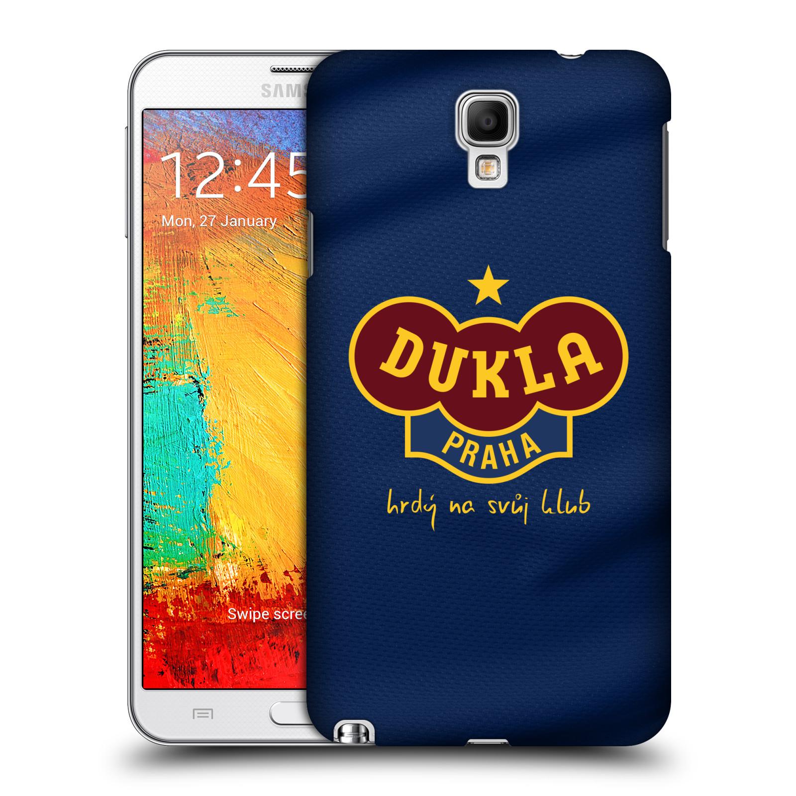 Plastové pouzdro na mobil Samsung Galaxy Note 3 Neo - FK Dukla Praha - Modrý dres