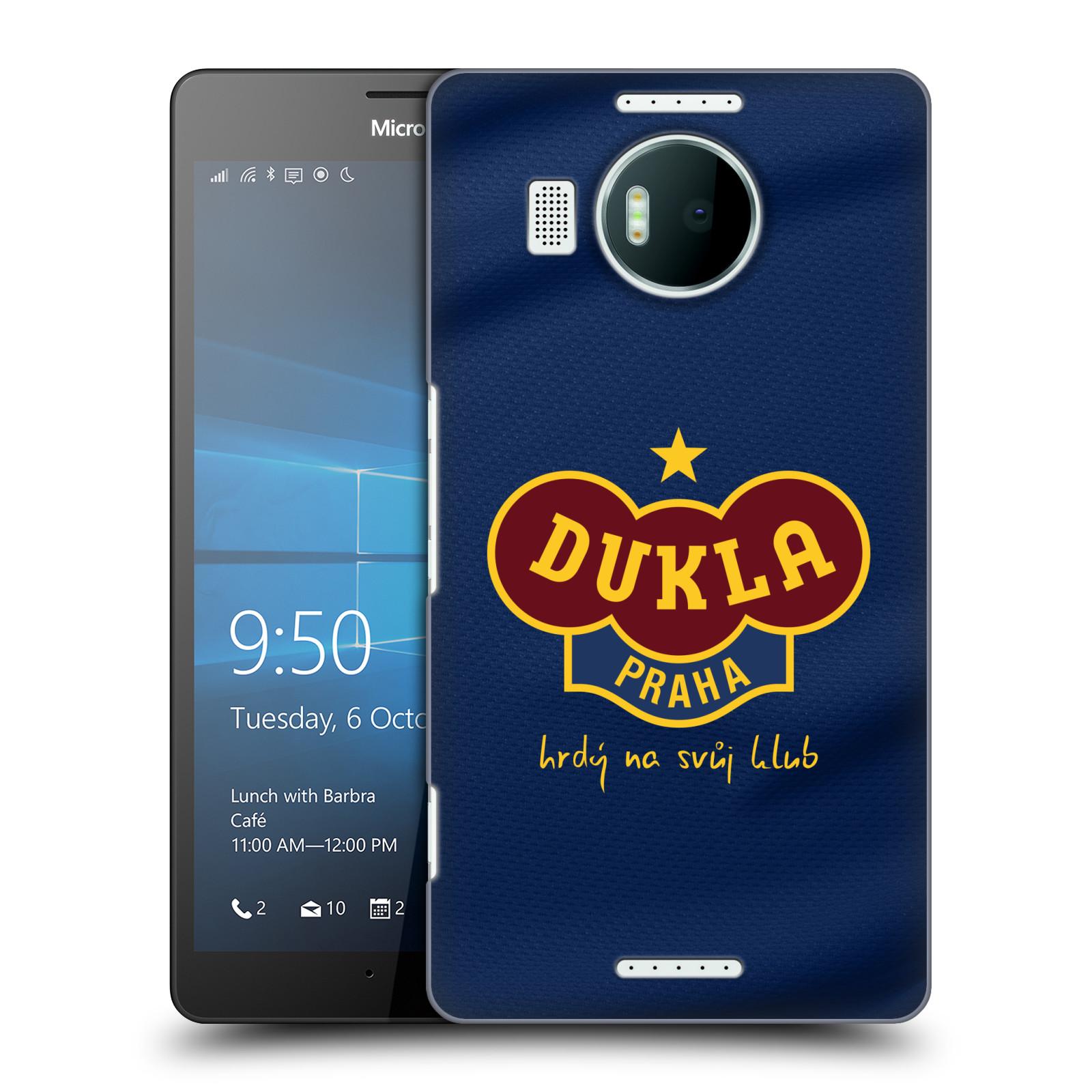 Plastové pouzdro na mobil Microsoft Lumia 950 XL - FK Dukla Praha - Modrý dres