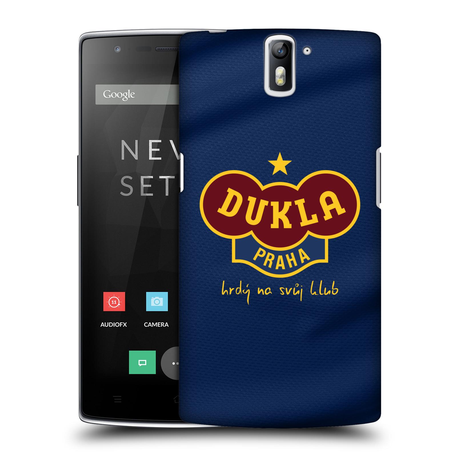 Plastové pouzdro na mobil OnePlus One - FK Dukla Praha - Modrý dres