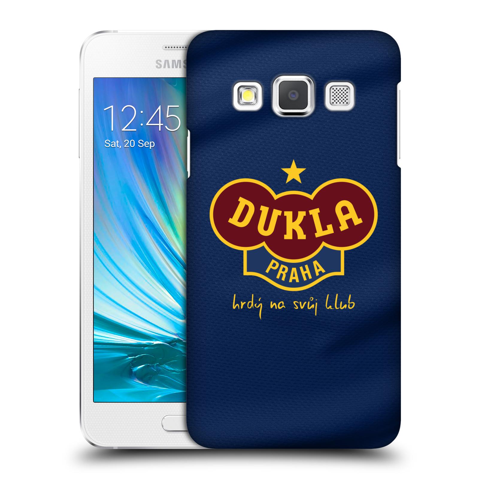 Plastové pouzdro na mobil Samsung Galaxy A3 - FK Dukla Praha - Modrý dres