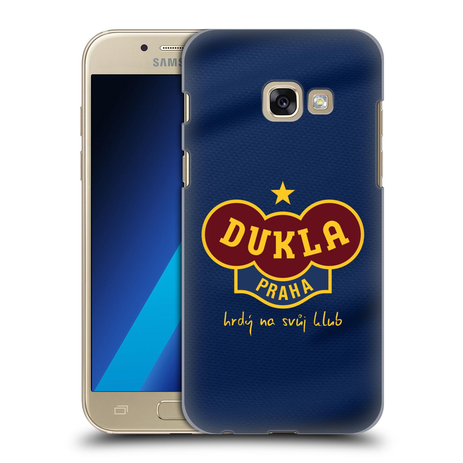 Plastové pouzdro na mobil Samsung Galaxy A3 (2017) - FK Dukla Praha - Modrý dres
