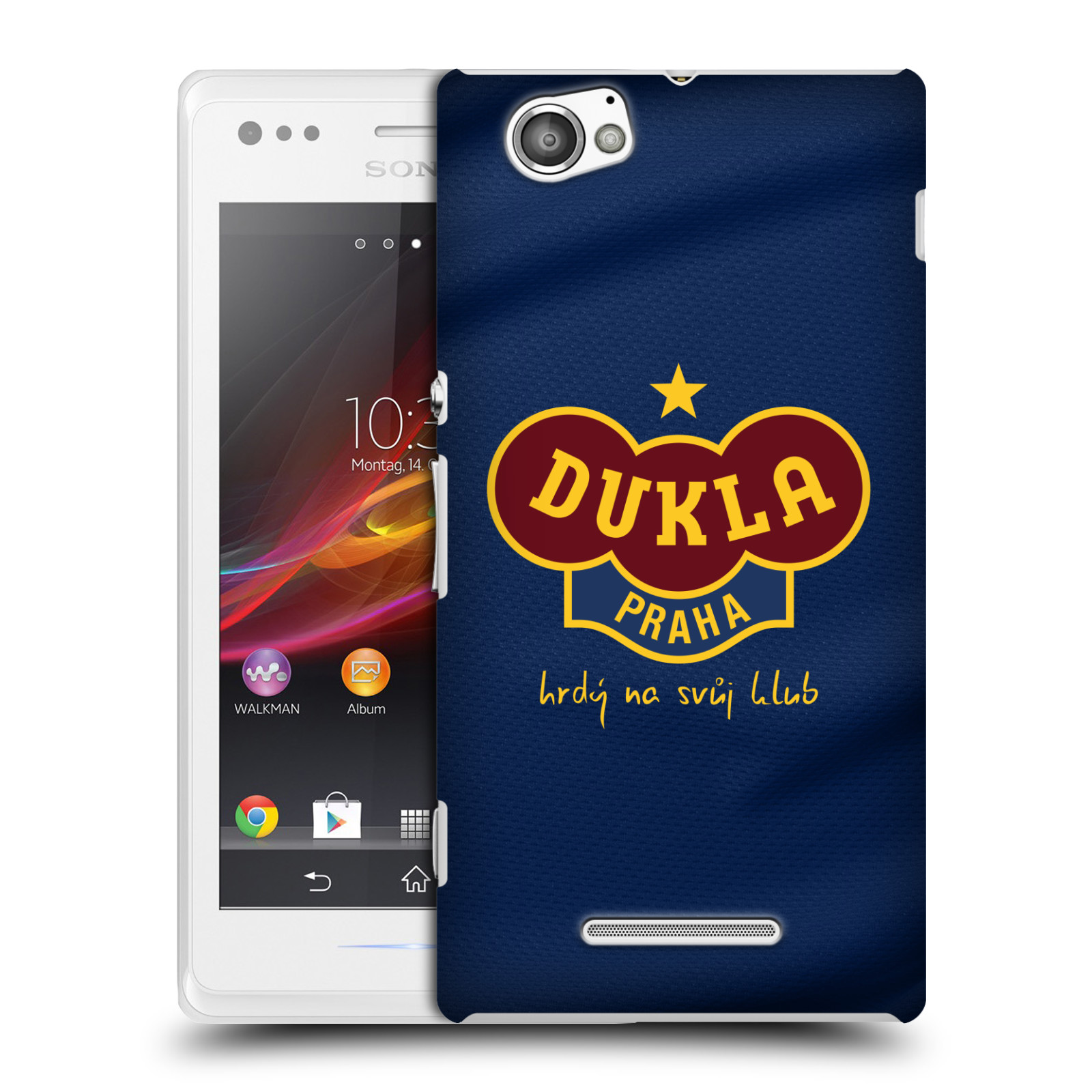 Plastové pouzdro na mobil Sony Xperia M C1905 - FK Dukla Praha - Modrý dres