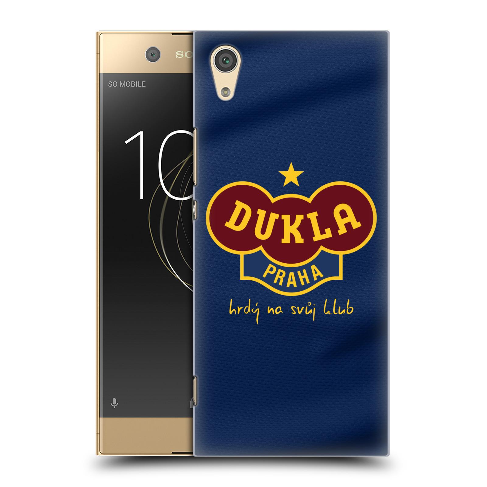 Plastové pouzdro na mobil Sony Xperia XA1 - FK Dukla Praha - Modrý dres