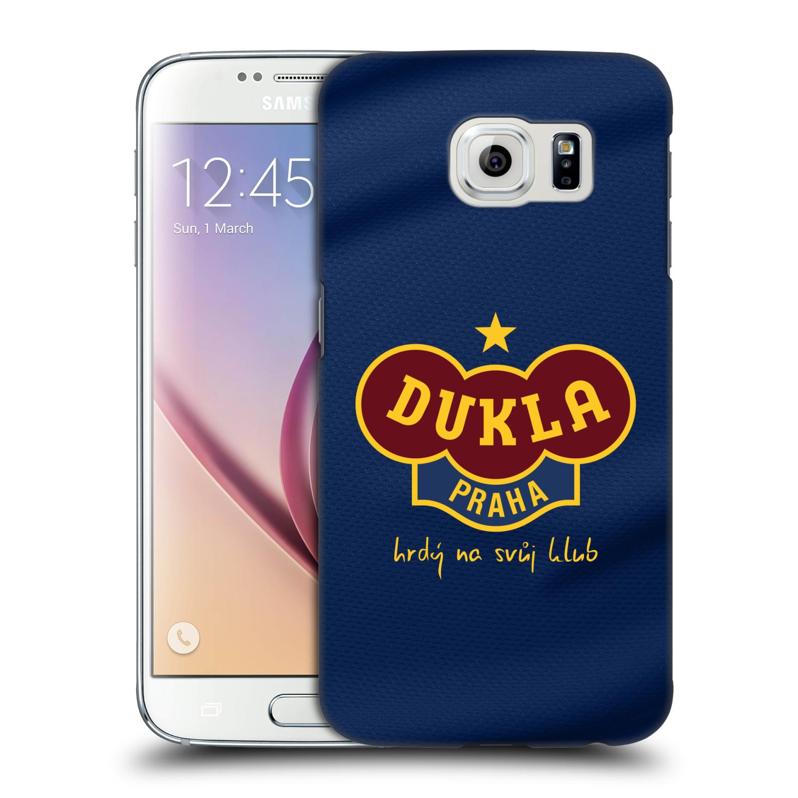 Plastové pouzdro na mobil Samsung Galaxy S6 - FK Dukla Praha - Modrý dres