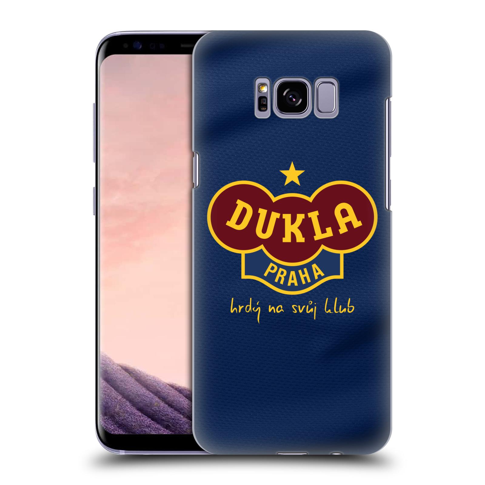 Plastové pouzdro na mobil Samsung Galaxy S8+ (Plus) - FK Dukla Praha - Modrý dres
